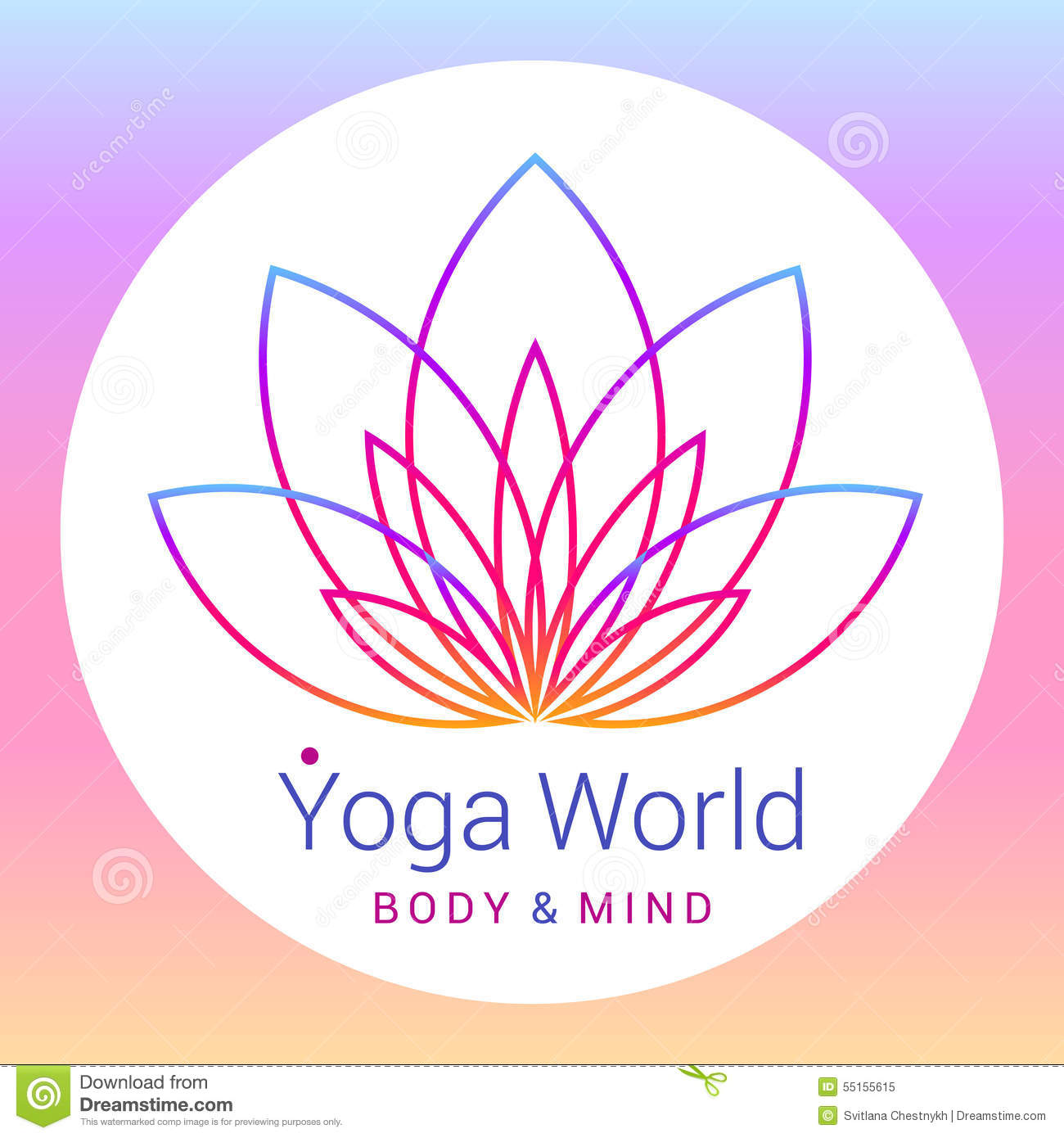 Lotus Flower As Symbol Yoga Stock Vector Image