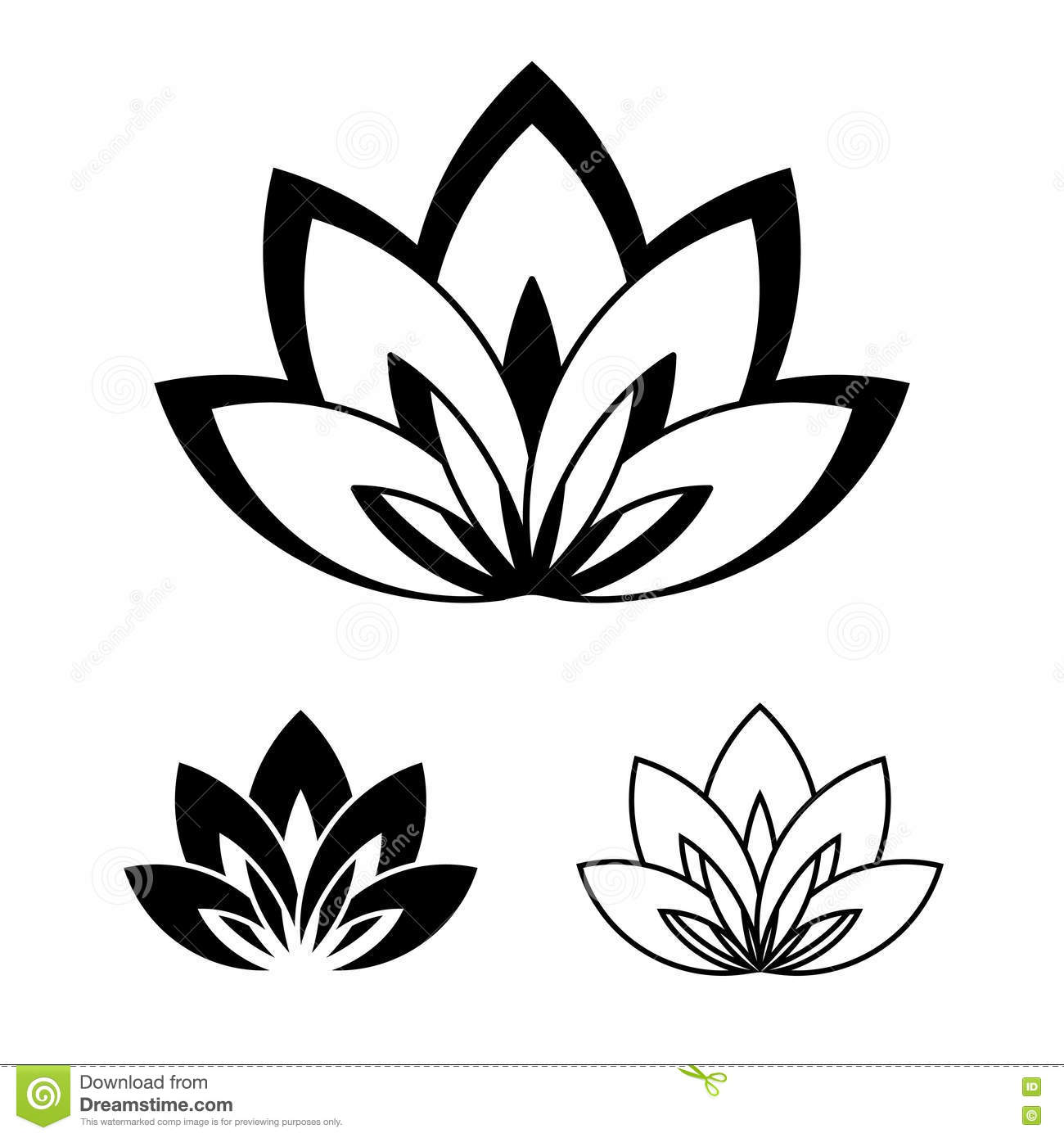 Lotus Flower As A Symbol Yoga Stock Vector Image