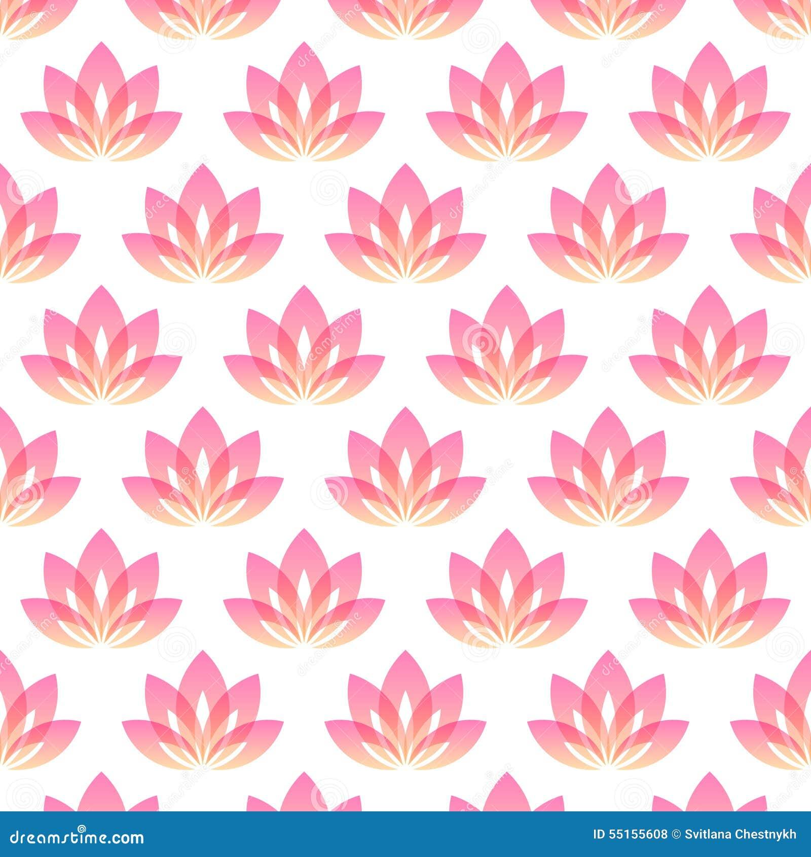 Yoga pattern background seamless pattern with five petals lotus flower - Flower Lotus Seamless Symbol Vector Web Yoga