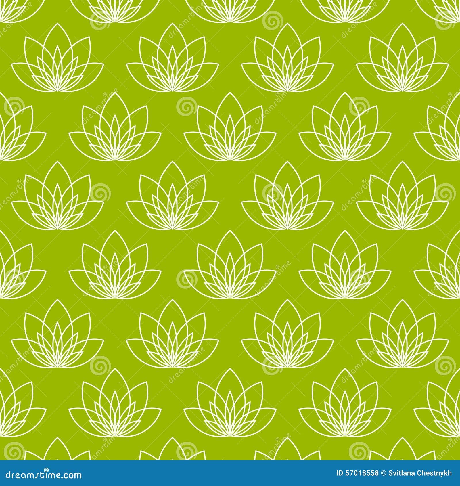 Lotus Flower As Symbol Of Yoga Stock Vector Illustration Of Green