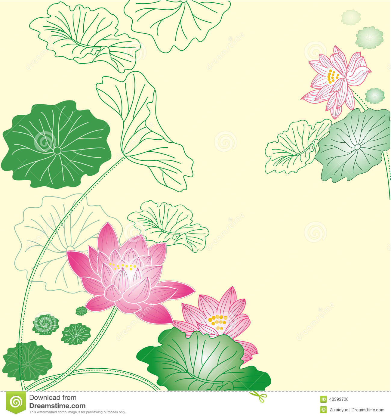 Lotus flower background stock vector illustration of elegant 40393720 lotus flower background izmirmasajfo