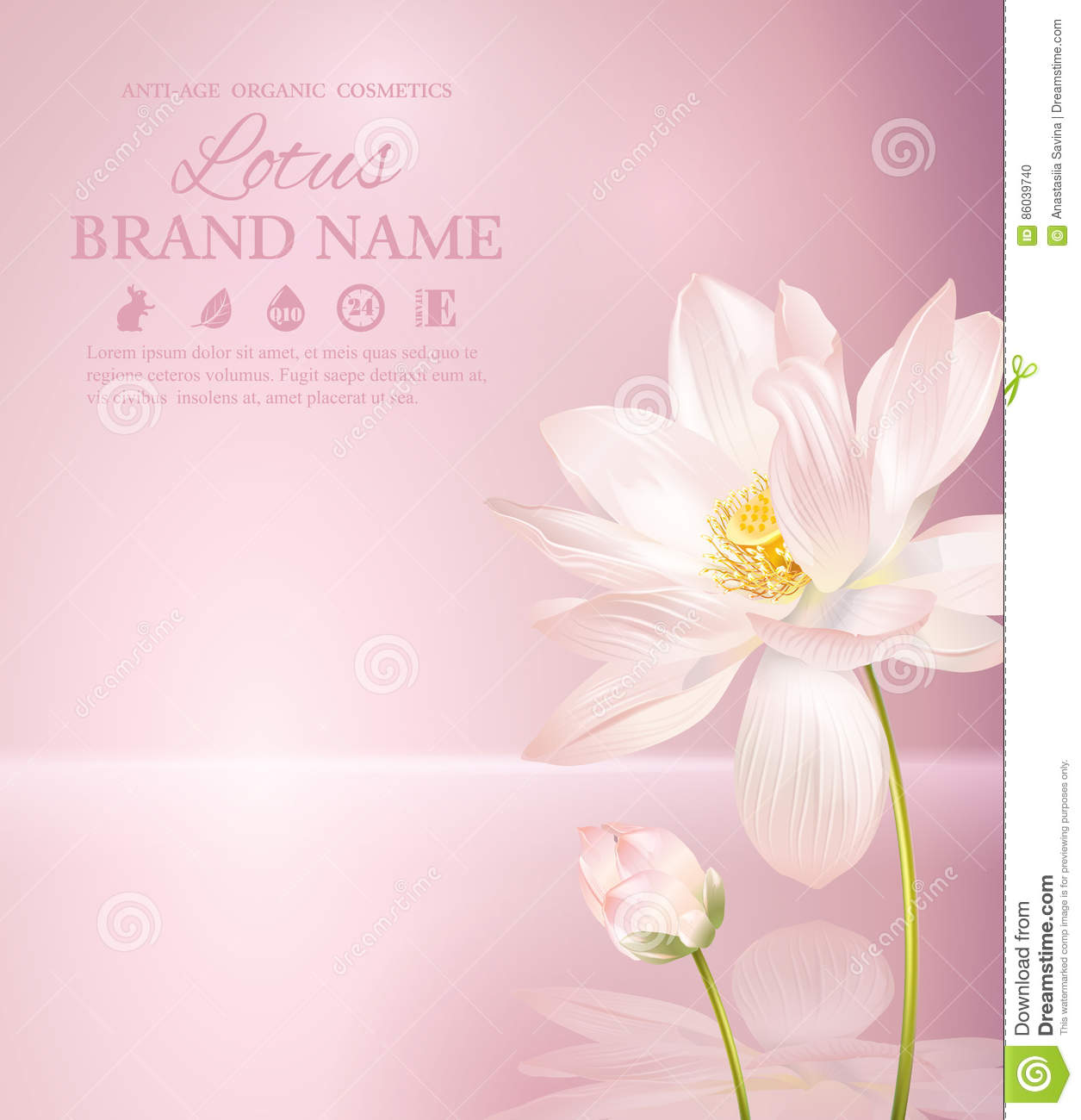 Lotus flower banner stock vector image 86039740 background flower health lotus natural pink product dhlflorist Gallery