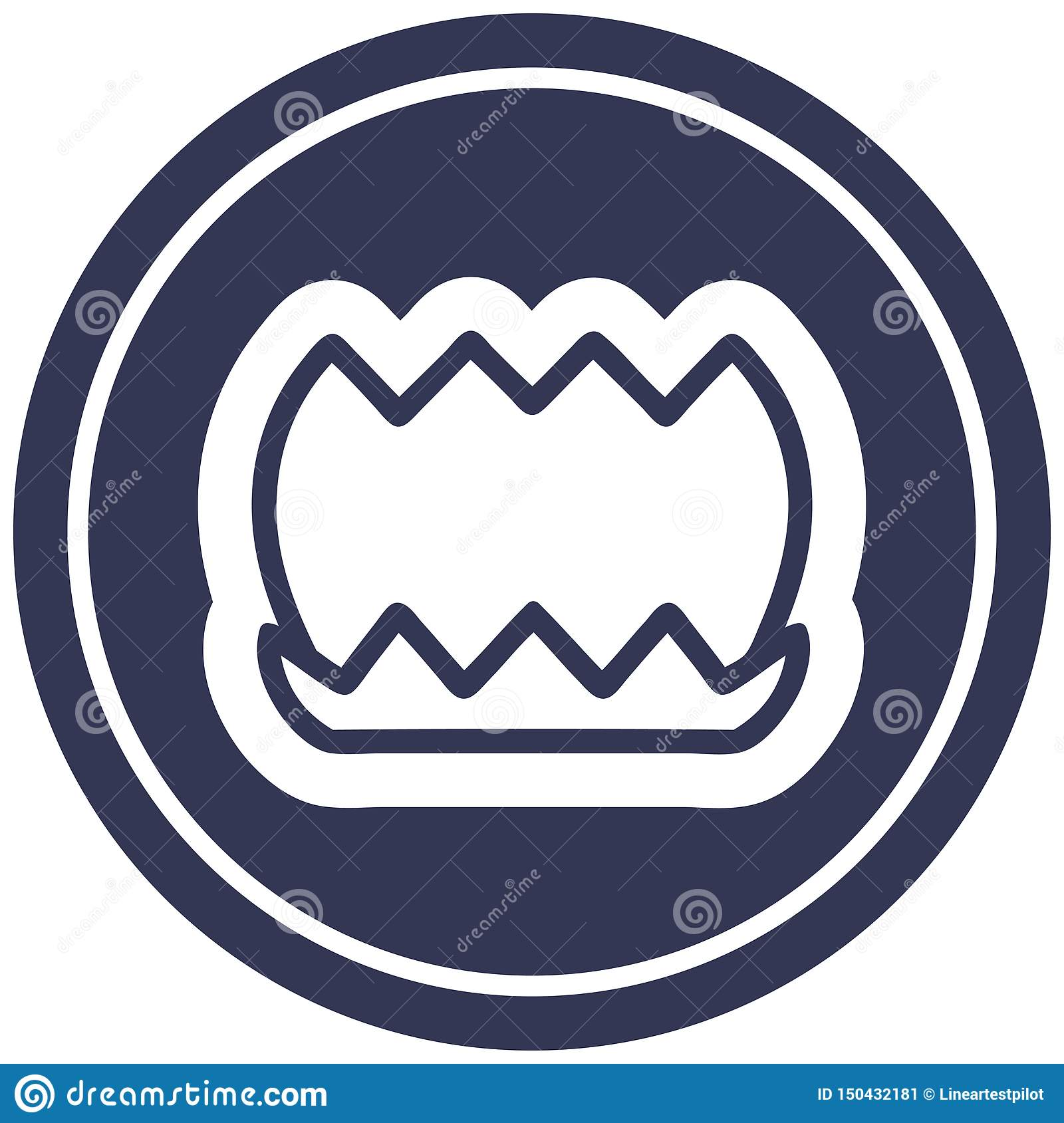 lotus flower circular icon symbol