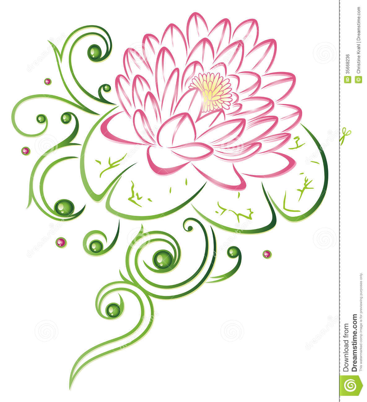 Lotus flower stock vector illustration of green botany 35668236 download comp izmirmasajfo