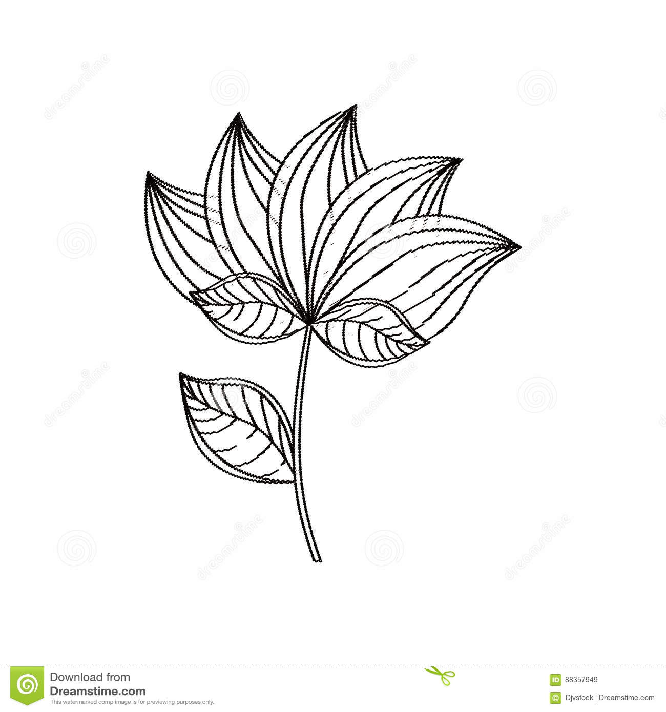 Lotus flower decoration sketch stock illustration illustration of lotus flower decoration sketch izmirmasajfo
