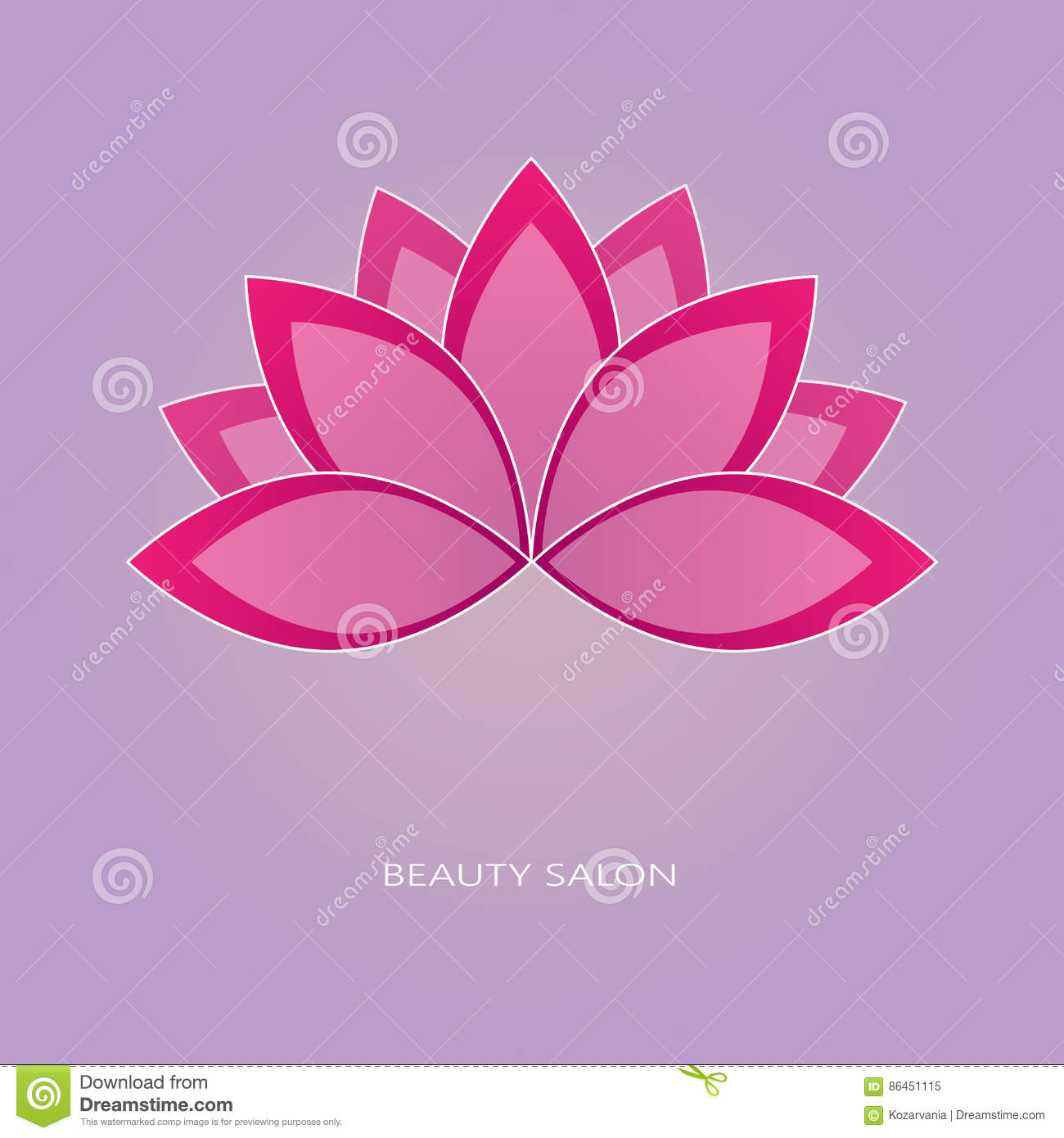 Lotus Flower Emblem Stock Vector Illustration Of Business 86451115