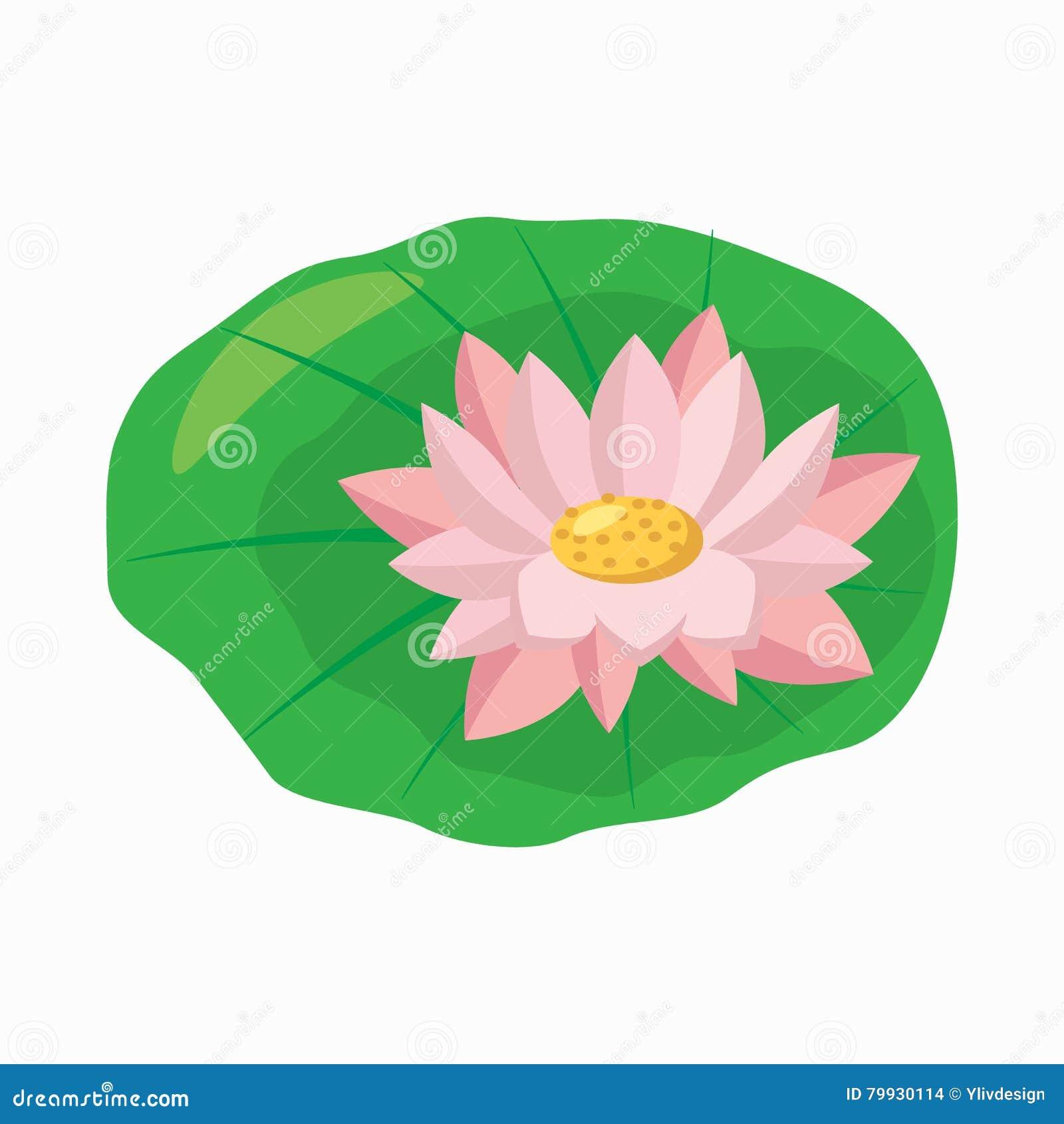 Lotus flower icon cartoon style stock vector illustration of lotus flower icon cartoon style izmirmasajfo