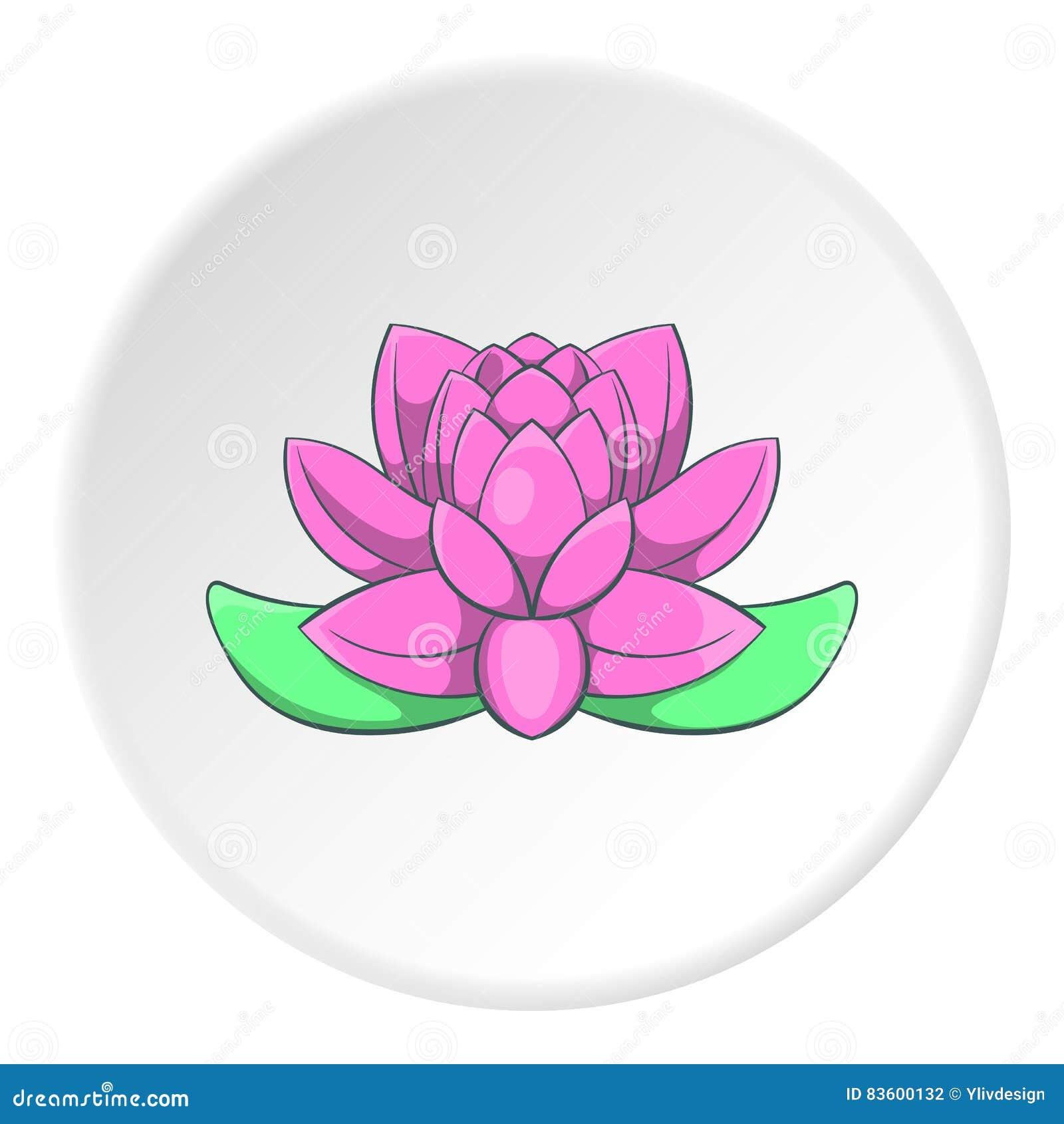 Lotus Flower Icon Cartoon Style Stock Vector Illustration Of