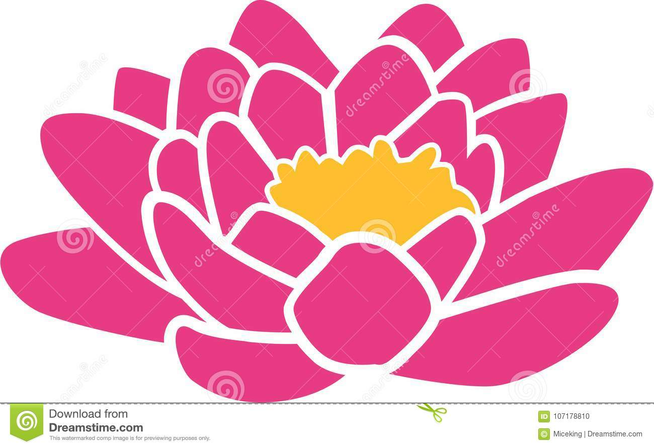 Lotus Flower Icon Stock Vector Illustration Of Blossom 107178810
