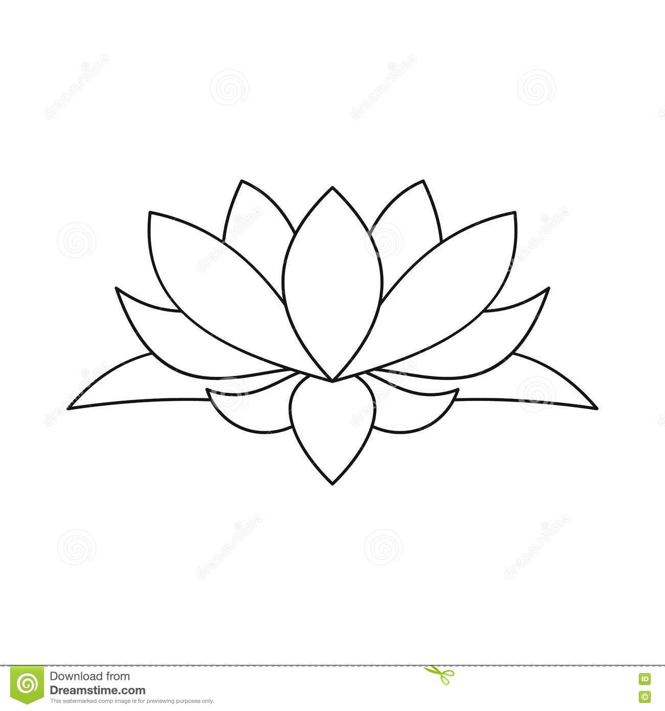 Lotus flower icon outline style stock vector illustration of lotus flower icon outline style mightylinksfo