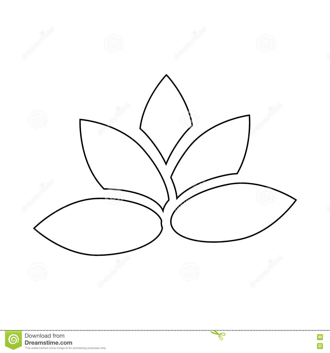 Lotus Flower Icon Outline Style Stock Vector Illustration Of Line