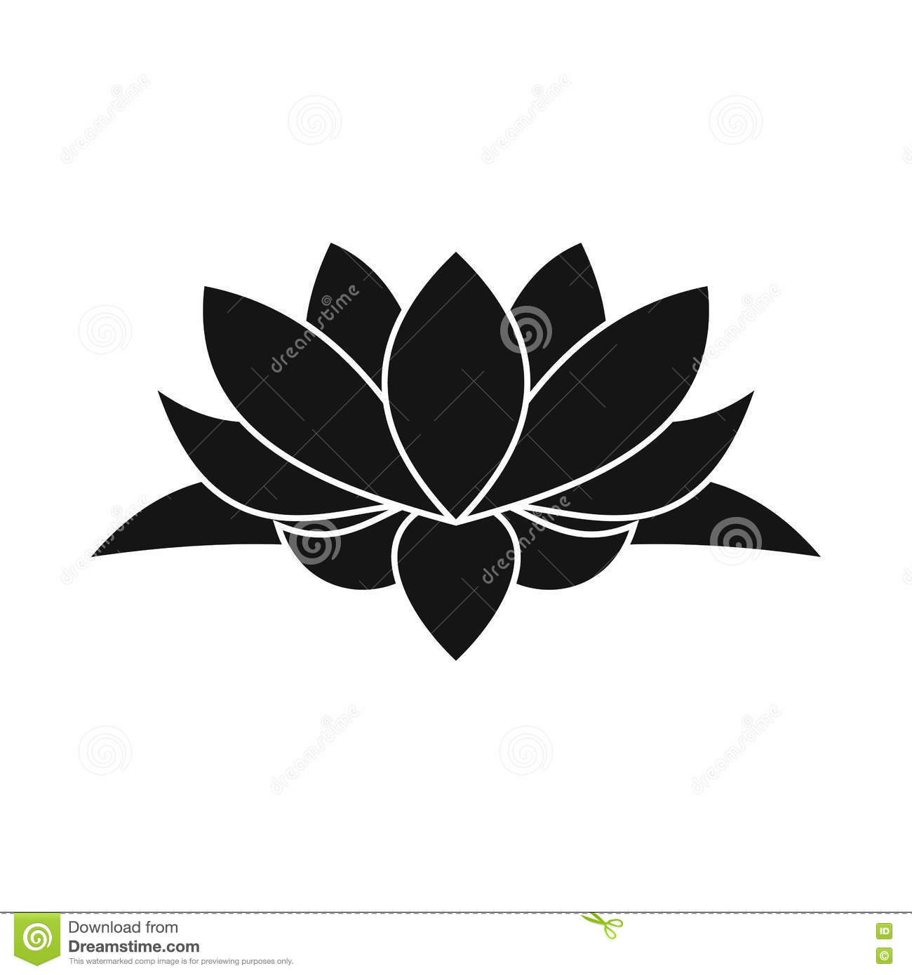 Lotus flower icon simple style stock vector illustration of download lotus flower icon simple style stock vector illustration of beautiful lily izmirmasajfo