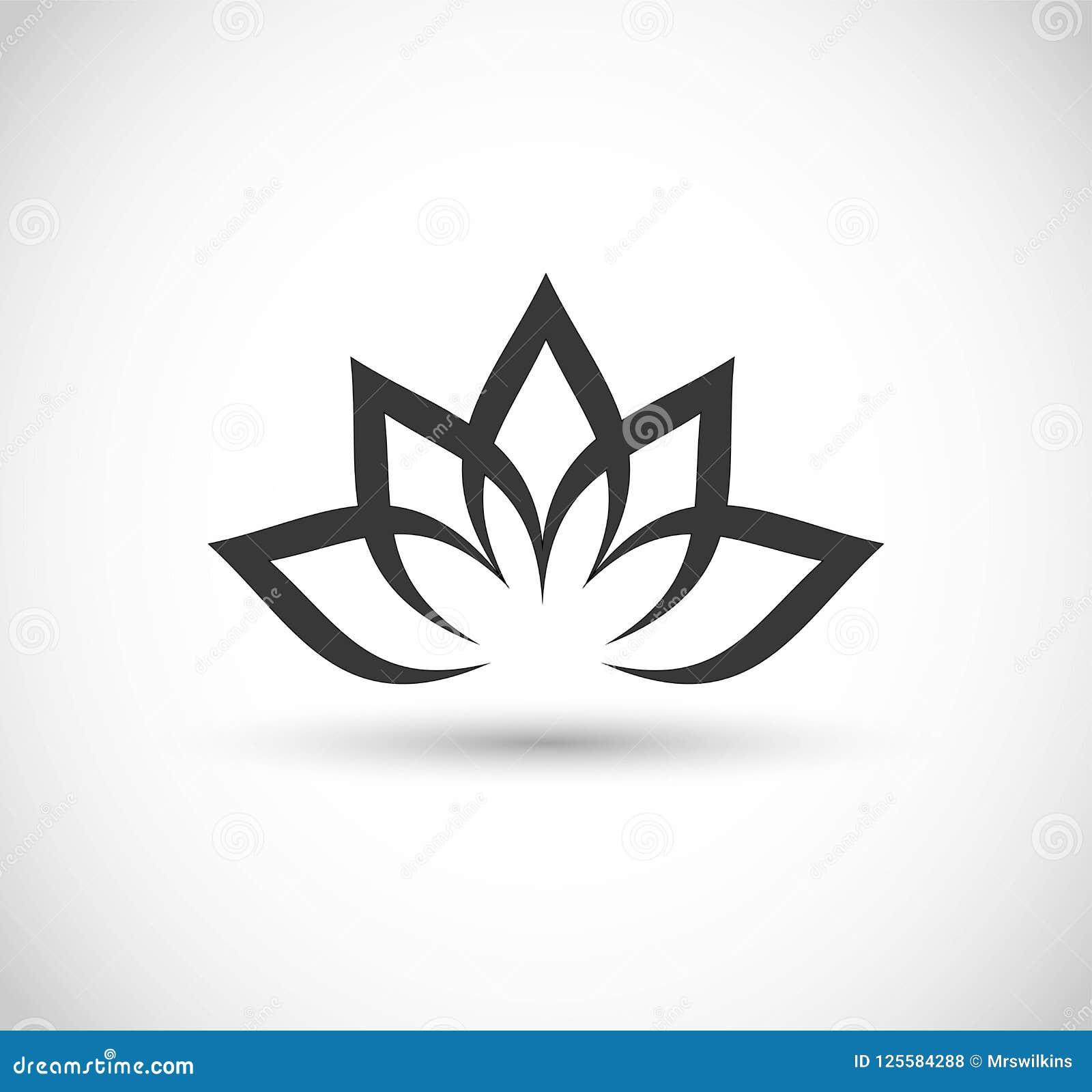 Lotus Flower Icon Vector Stock Vector Illustration Of Decorative
