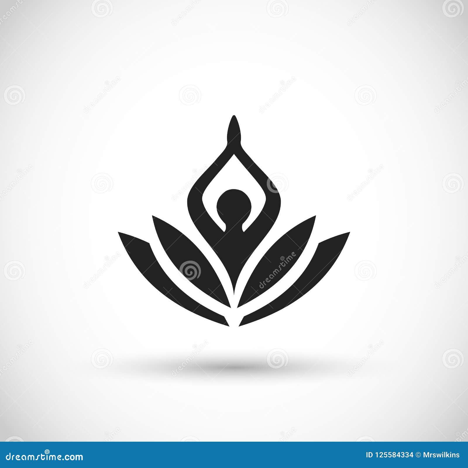 Lotus Flower Icon Vector Stock Illustration Illustration Of Flower