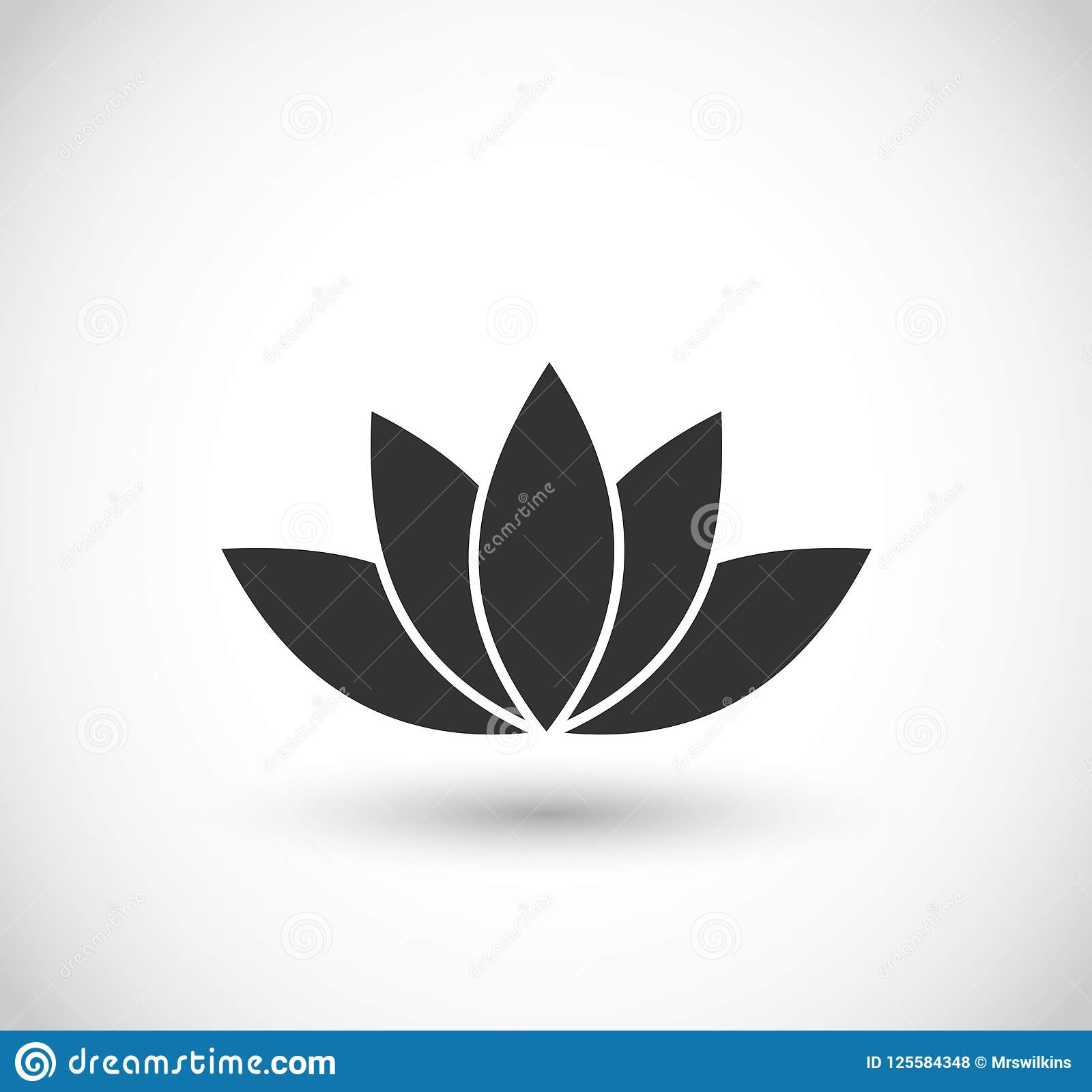 Lotus Flower Icon Vector Stock Illustration Illustration Of Natural
