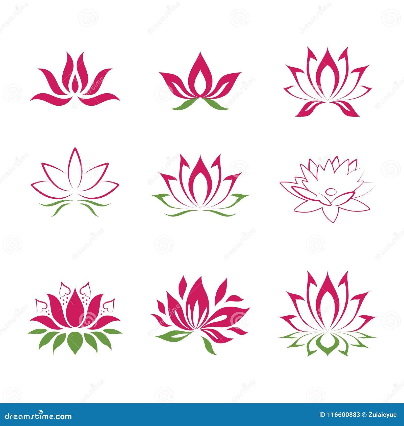 Lotus Flower Icons Stock Vector Illustration Of Logo 116600883