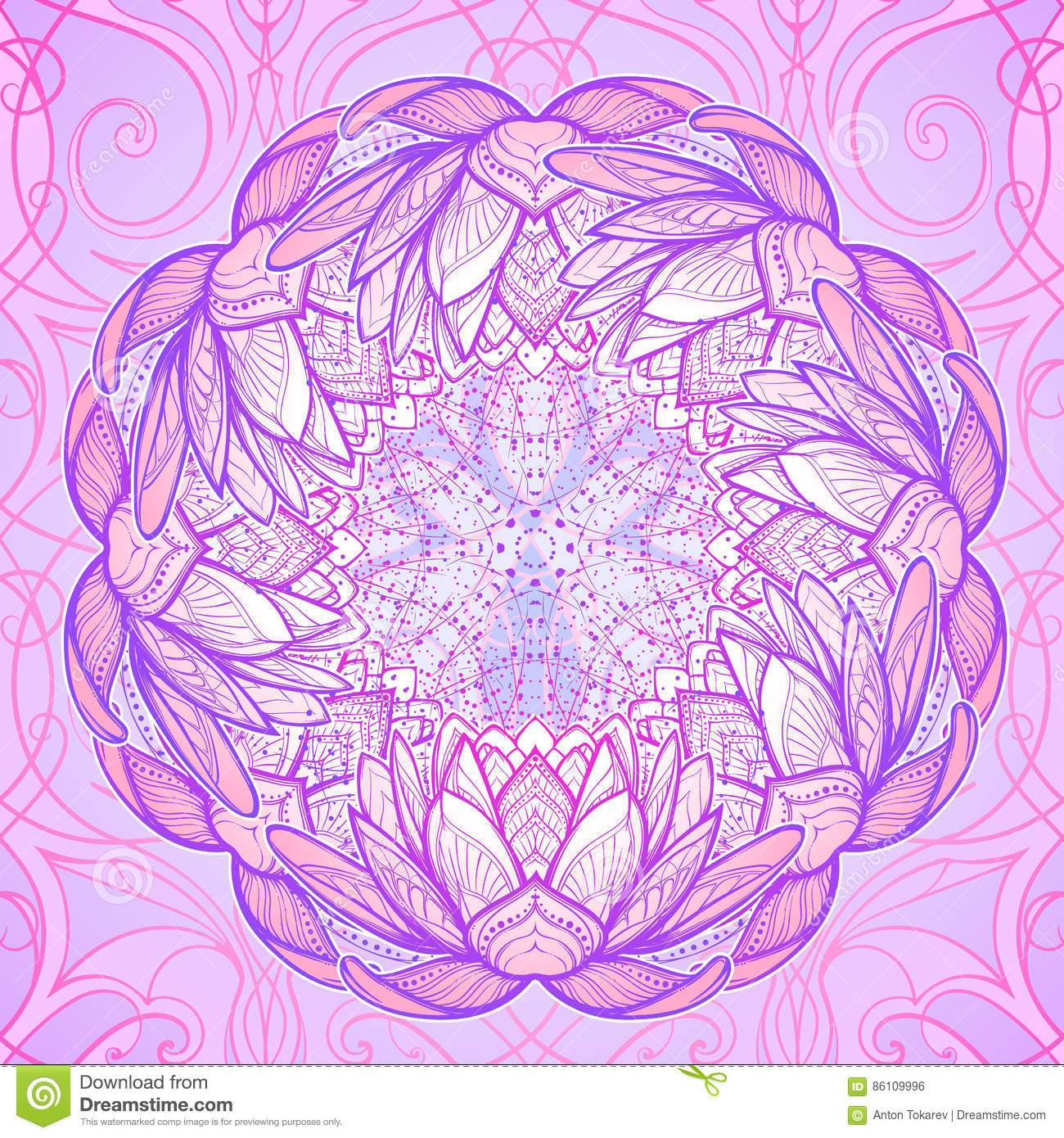 Lotus flower intricate stylized linear drawing isolated on background flower hindu illustration intricate isolated lotus dhlflorist Gallery