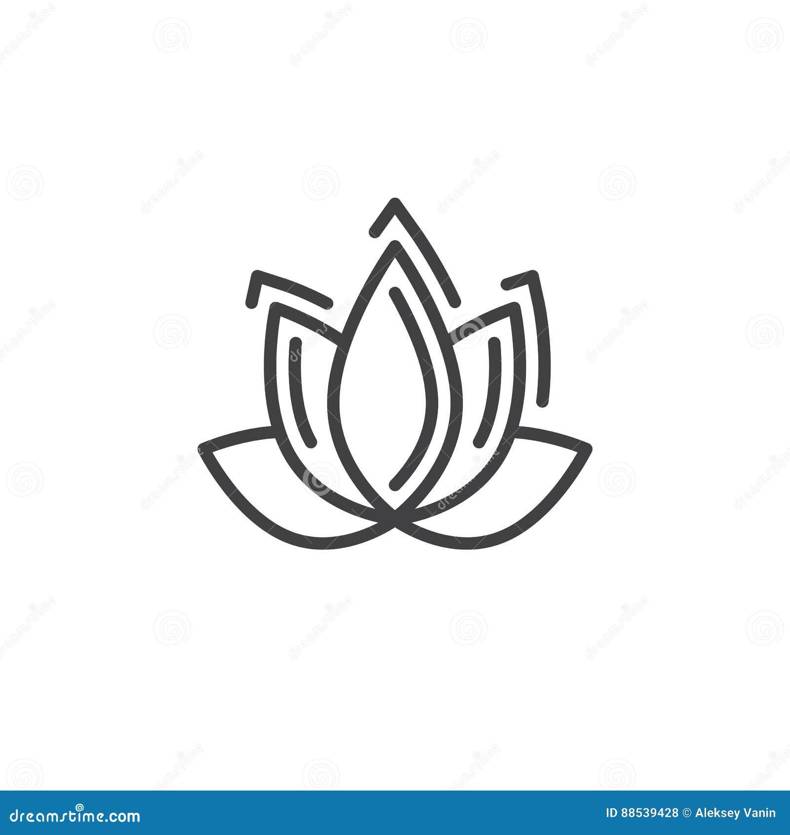 Lotus flower line icon outline vector sign linear pictogram download lotus flower line icon outline vector sign linear pictogram isolated on white stock izmirmasajfo