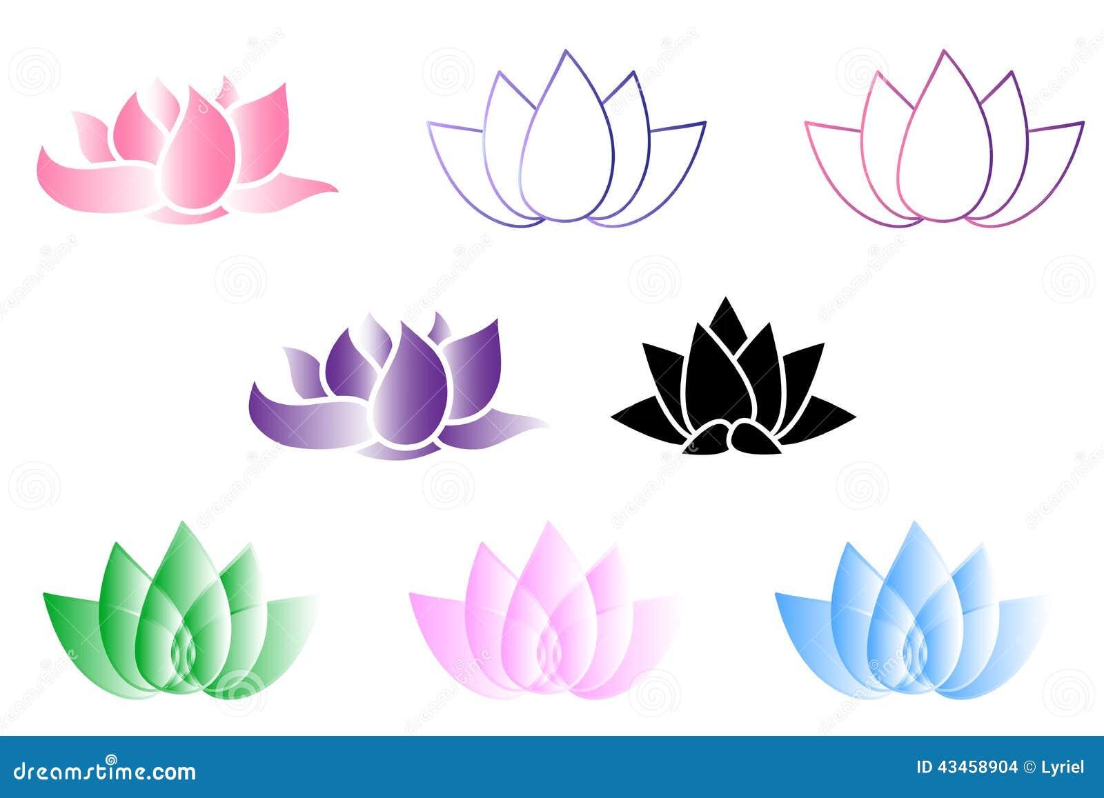 Lotus Flower Logo Vektor Illustrationer Illustration Av