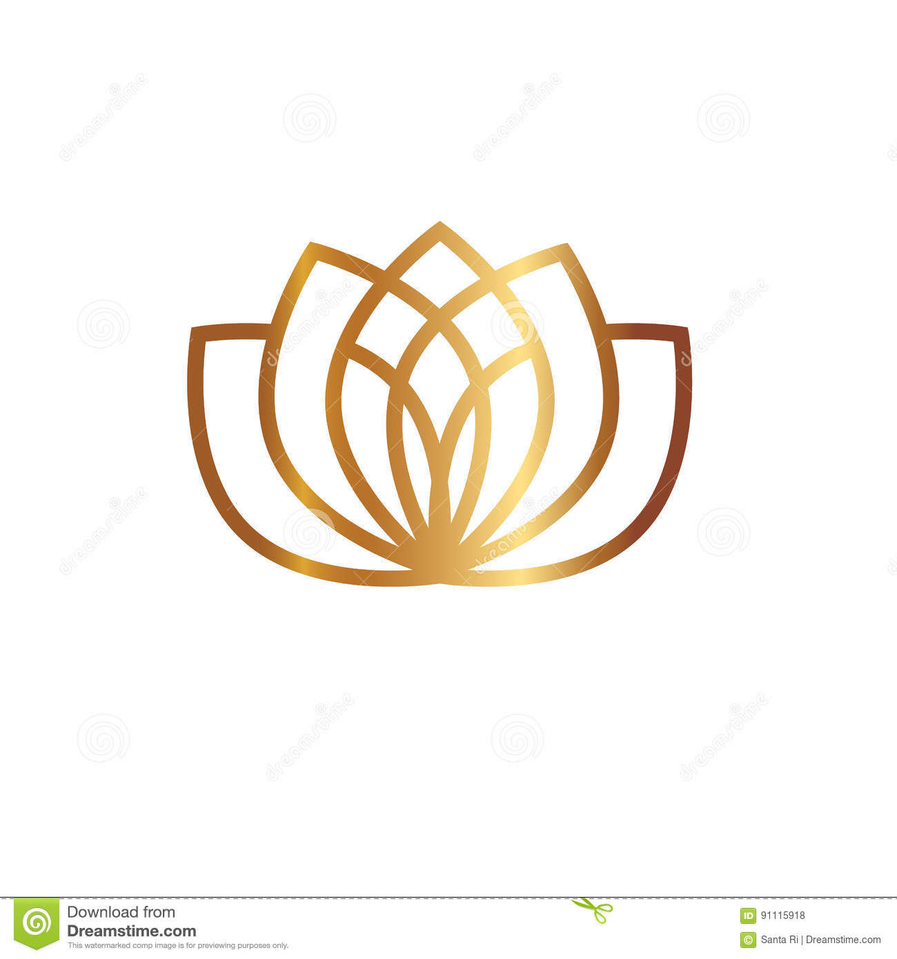Lotus Flower Logo Stock Vector Illustration Of Boutoque 91115918
