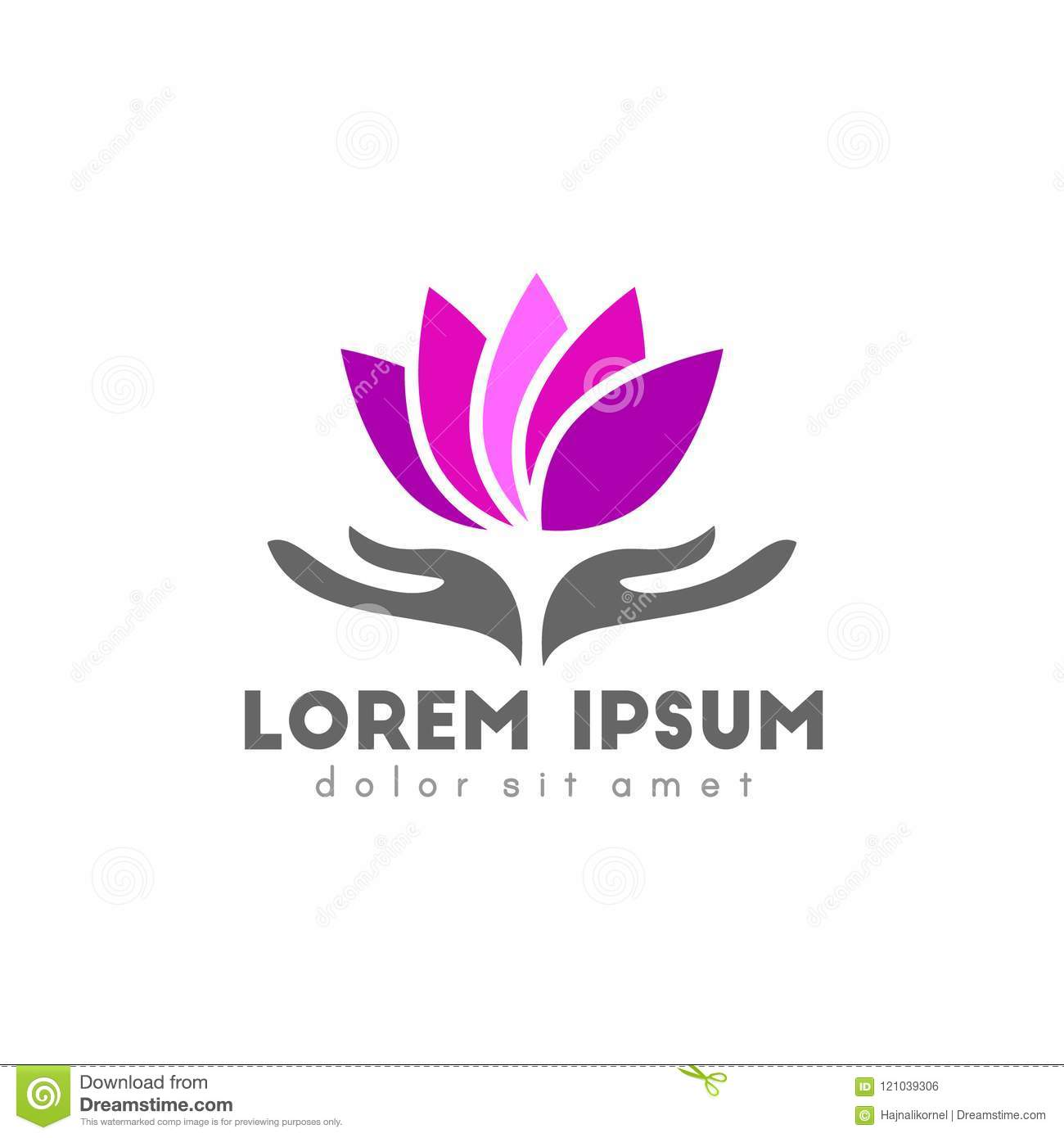 Lotus Flower Logo Design Stock Vector Illustration Of Design