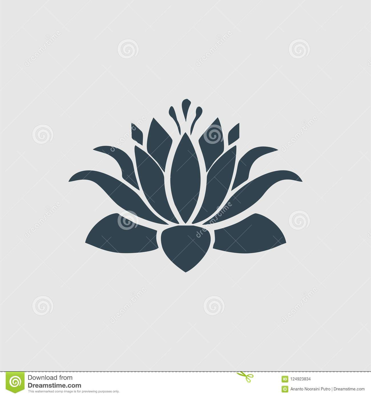 The Lotus Flower Logo Inspiration Stock Photo Illustration Of
