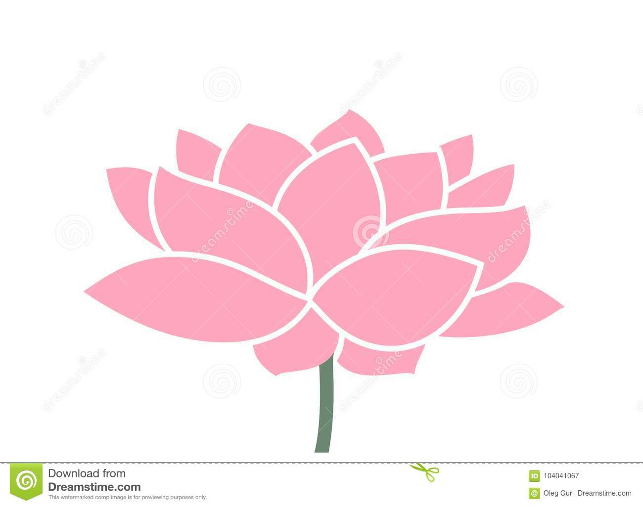 Lotus flower logo isolated lotus on white background stock vector lotus flower logo isolated lotus on white background eps 10 vector illustration izmirmasajfo