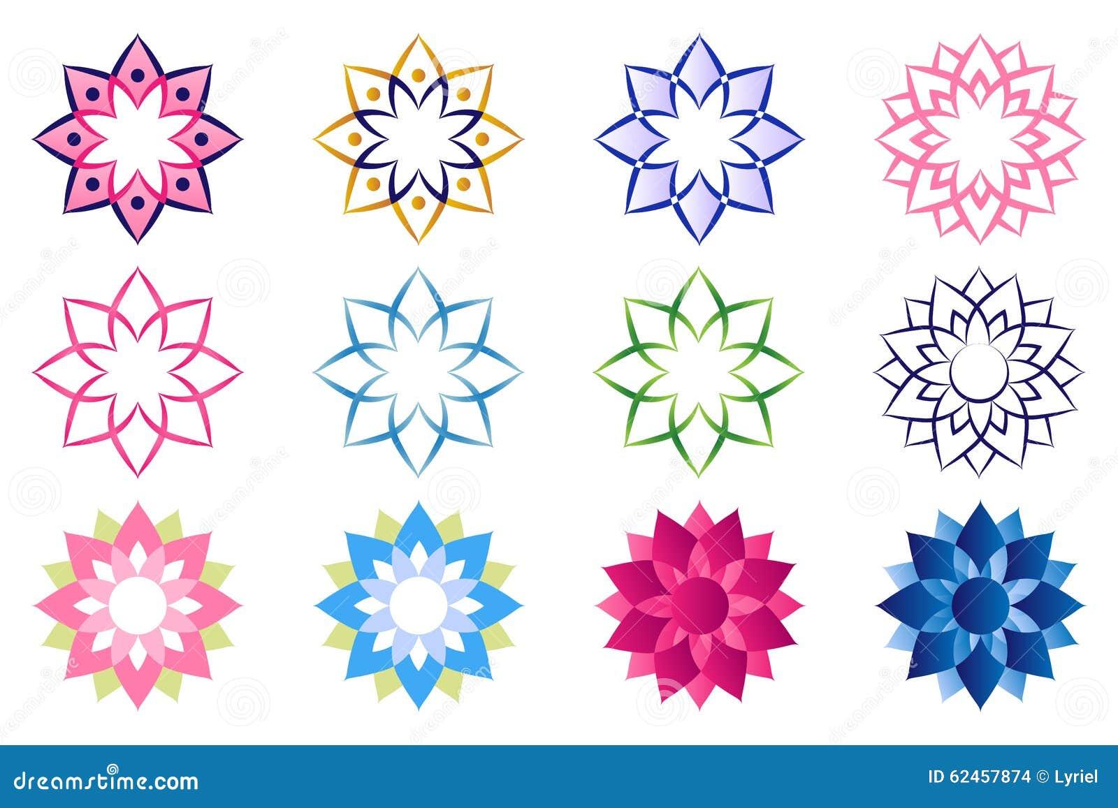 lotus flower logo stock illustration image 62457874