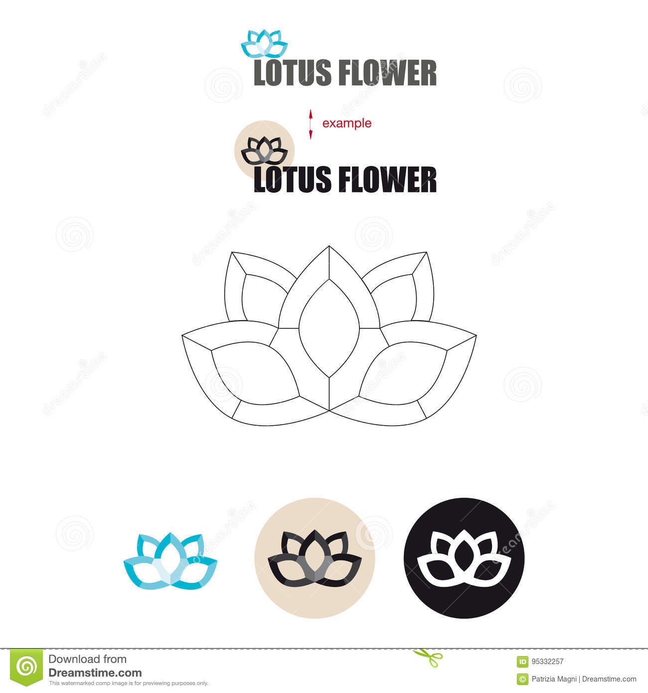Lotus Flower Icon Stock Vector Illustration Of Water 95332257