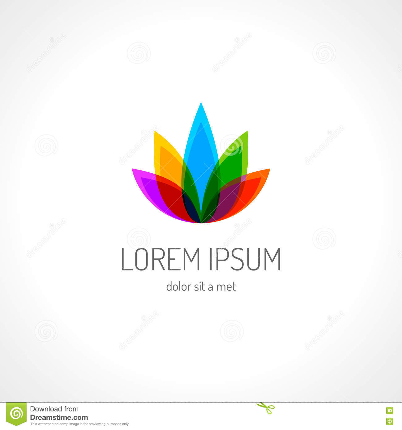Lotus Flower Logo Template Stock Vector Illustration Of Care 79444281