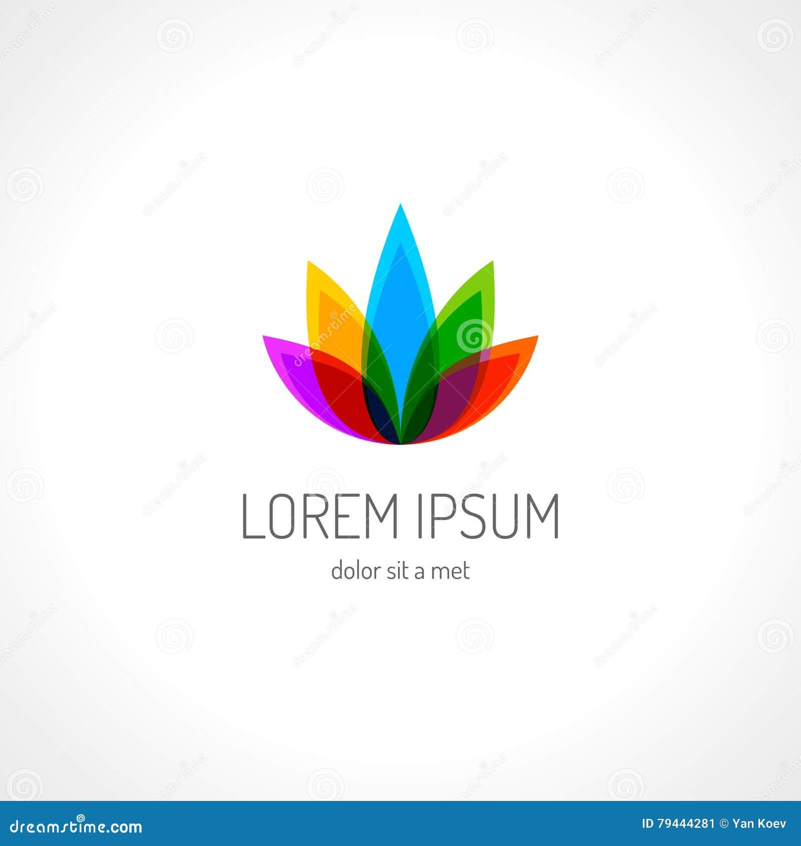 Lotus Flower Logo Template Stock Vector Illustration Of Icon 79444281