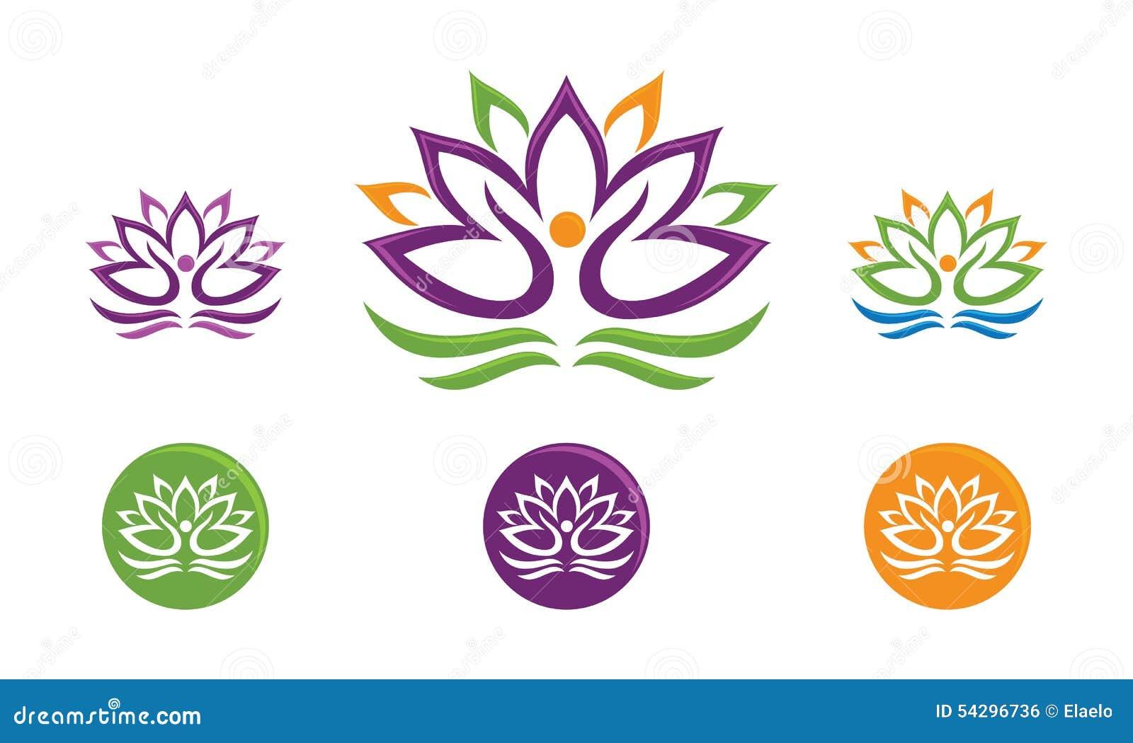 lotus flower logo stock vector image 54296736