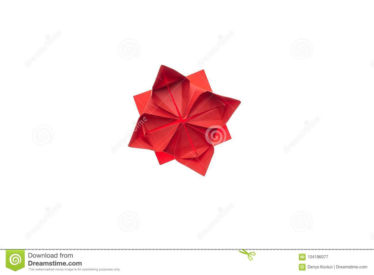 Lotus Flower Origami On White Stock Image Image Of Craftsmanship