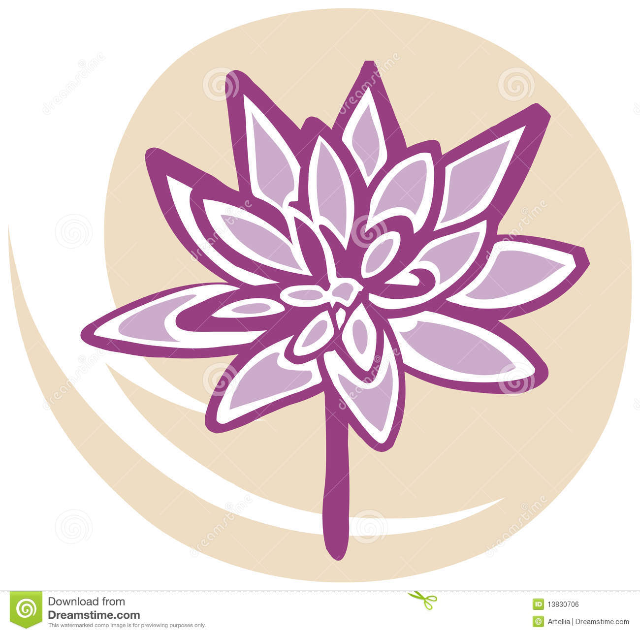 Lotus Flower In Pink Yellow Background Royalty Free Stock Image Image 1