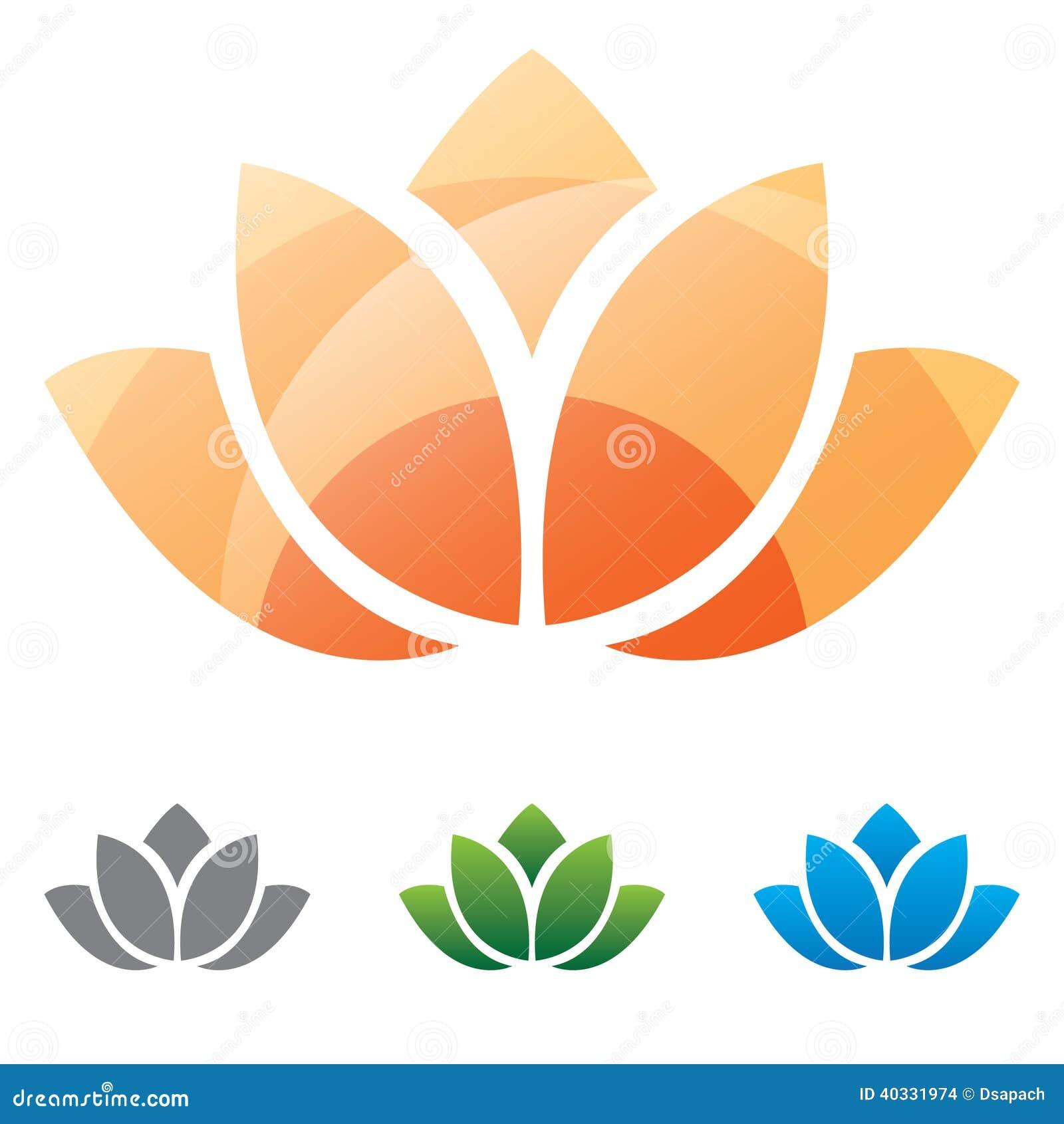 Lotus Flower Silhouette Icon Stock Vector Illustration Of