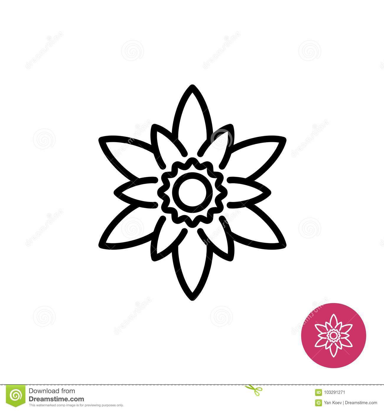 Lotus flower symbol stock vector illustration of outline 103291271 lotus flower symbol mightylinksfo