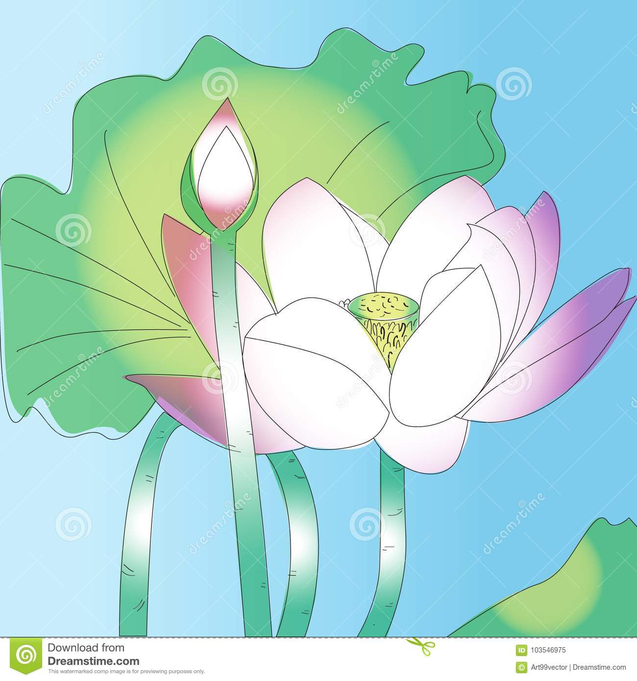 Lotus flower sketch art and nature pink soft stock illustration download lotus flower sketch art and nature pink soft stock illustration illustration of pink izmirmasajfo