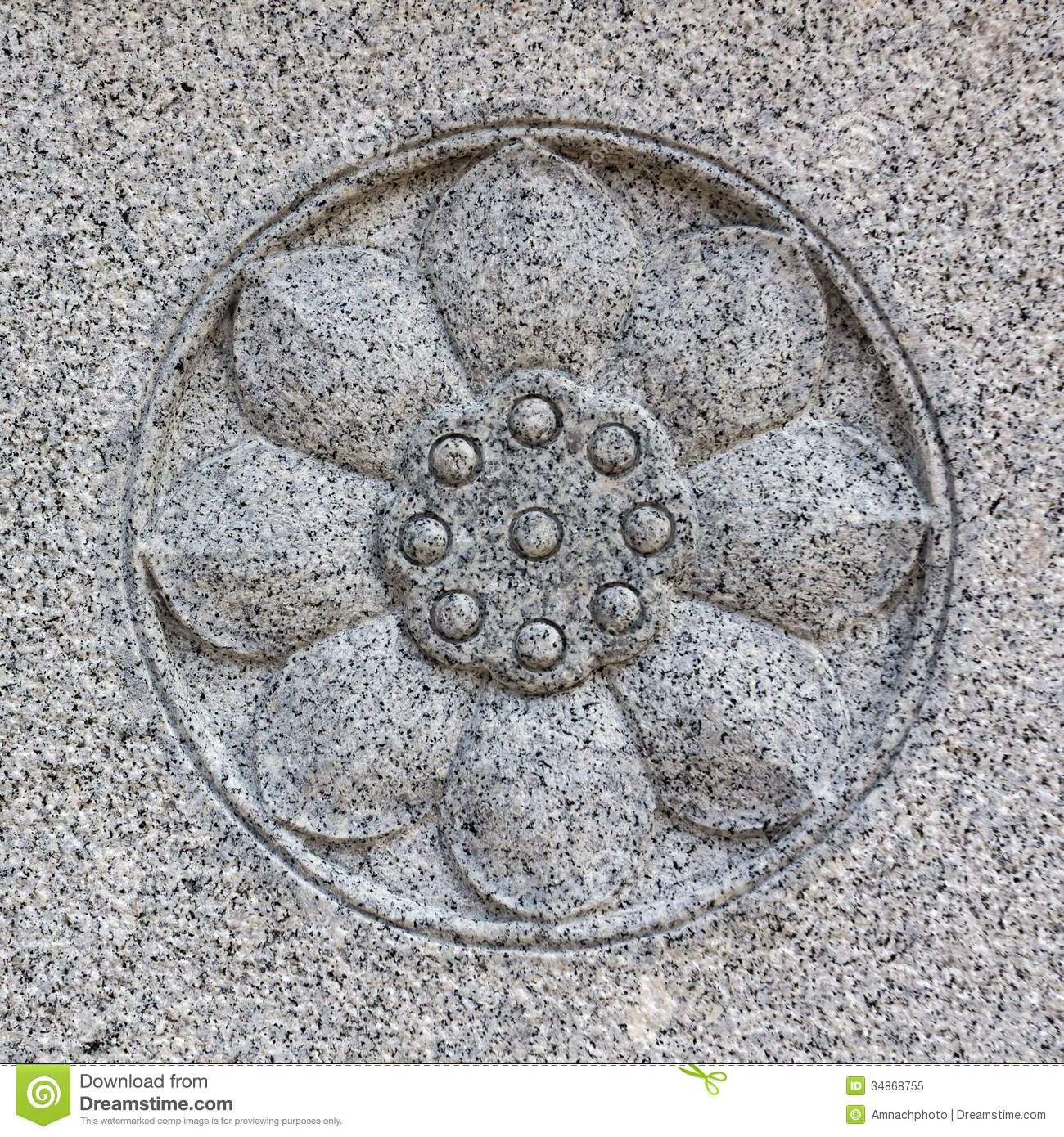 Lotus flower stone carving royalty free stock photo