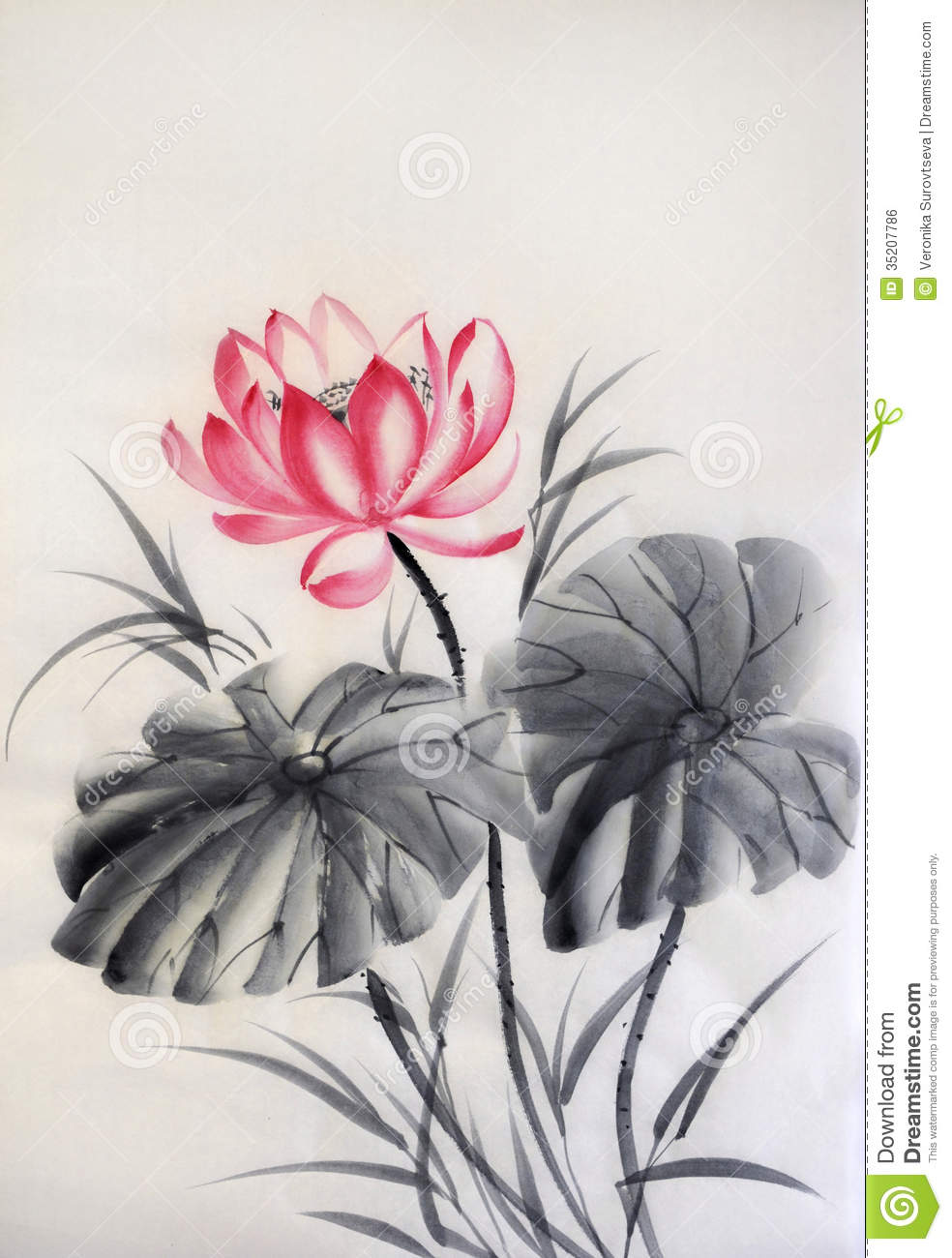 Image Gallery japanese lotus flower art
