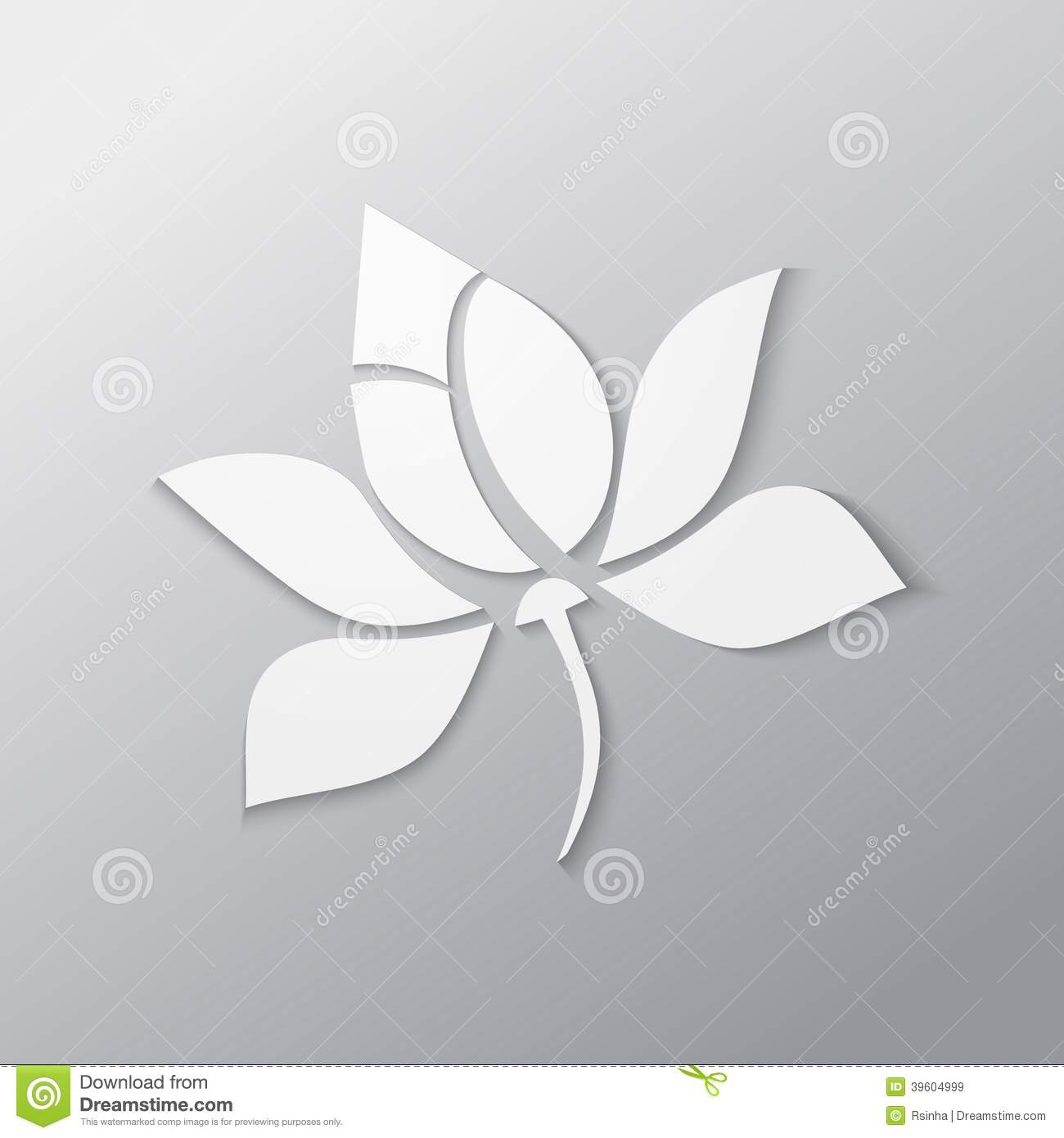 Lotus Flower Stock Vector Illustration Of Floral Decoration 39604999
