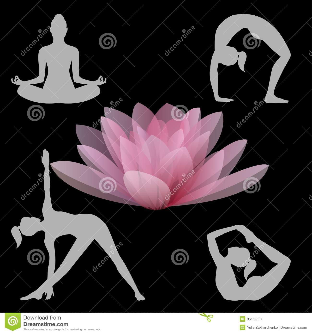 Lotus flower and yoga