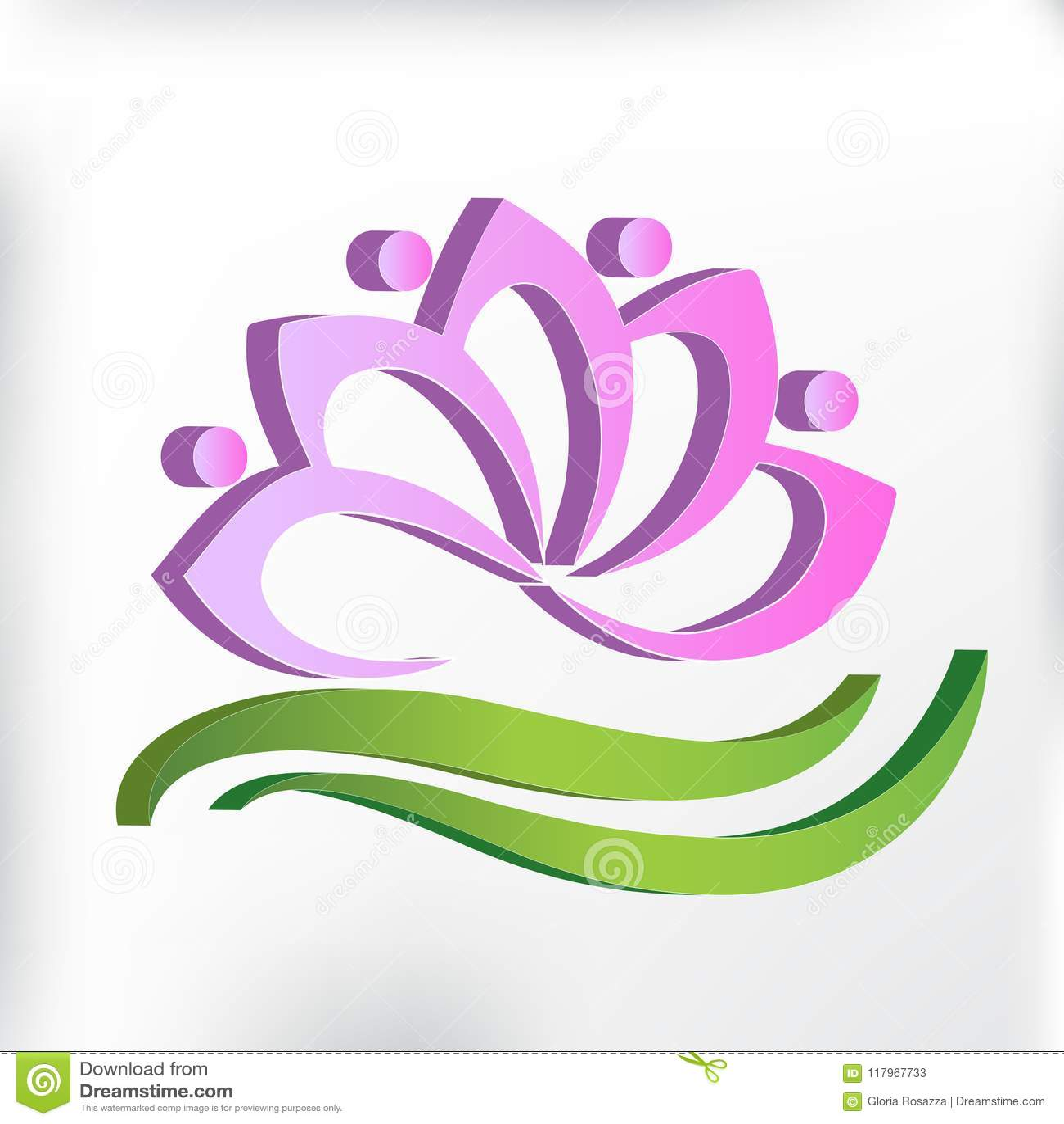 Lotus flower yoga teamwork 3d logo vector image illustration graphic download lotus flower yoga teamwork 3d logo vector image illustration graphic design stock vector illustration izmirmasajfo