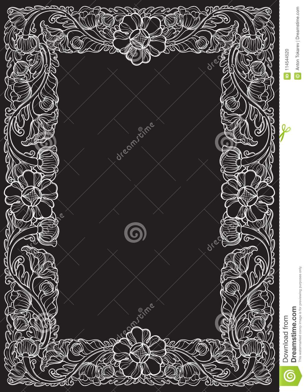 Lotus flowers arranged in intricate rectangular frame popular lotus flowers arranged in intricate rectangular frame popular decorative motif in south eastern asia izmirmasajfo