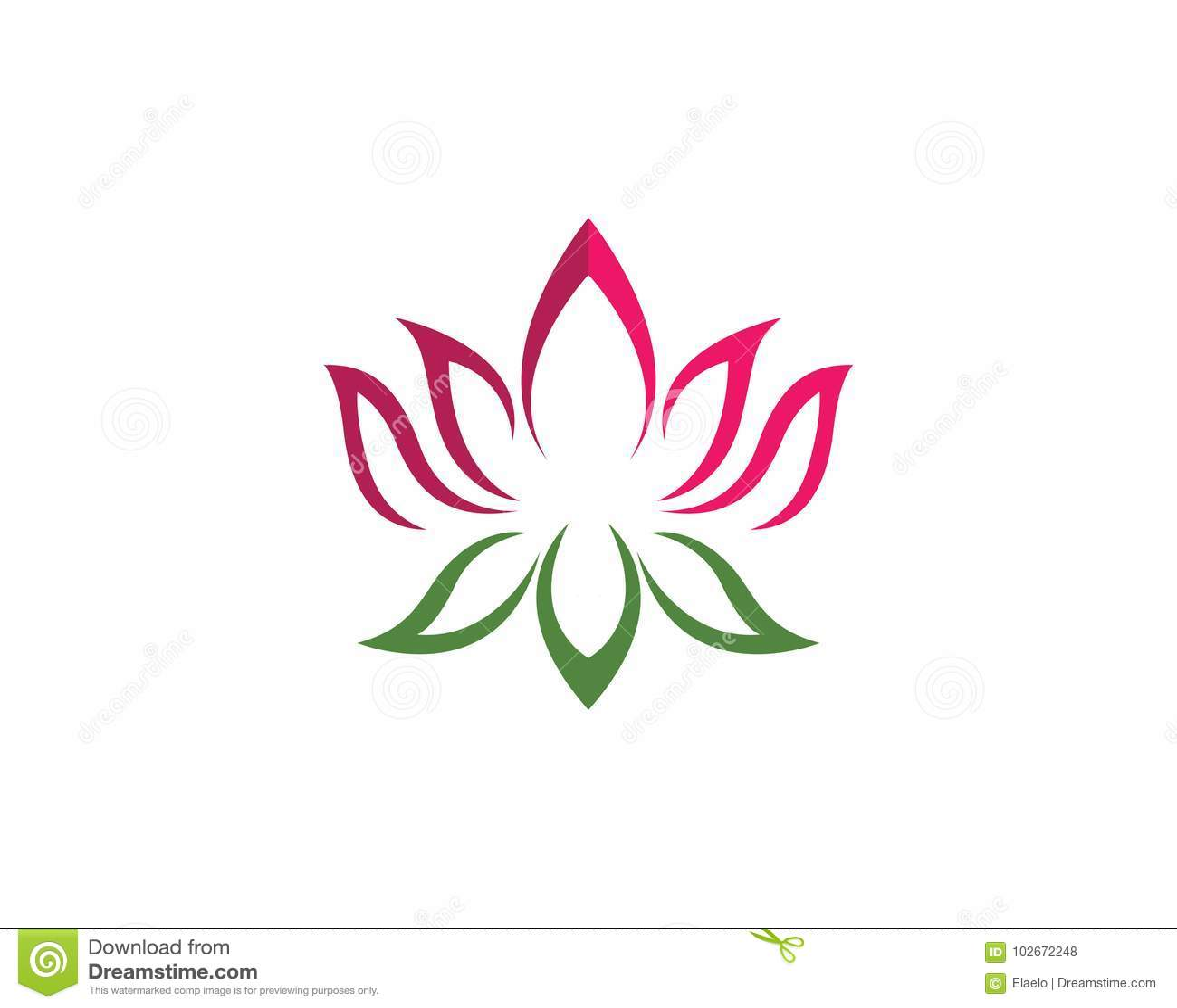 Lotus Flowers Design Logo Template Icon Stock Illustration