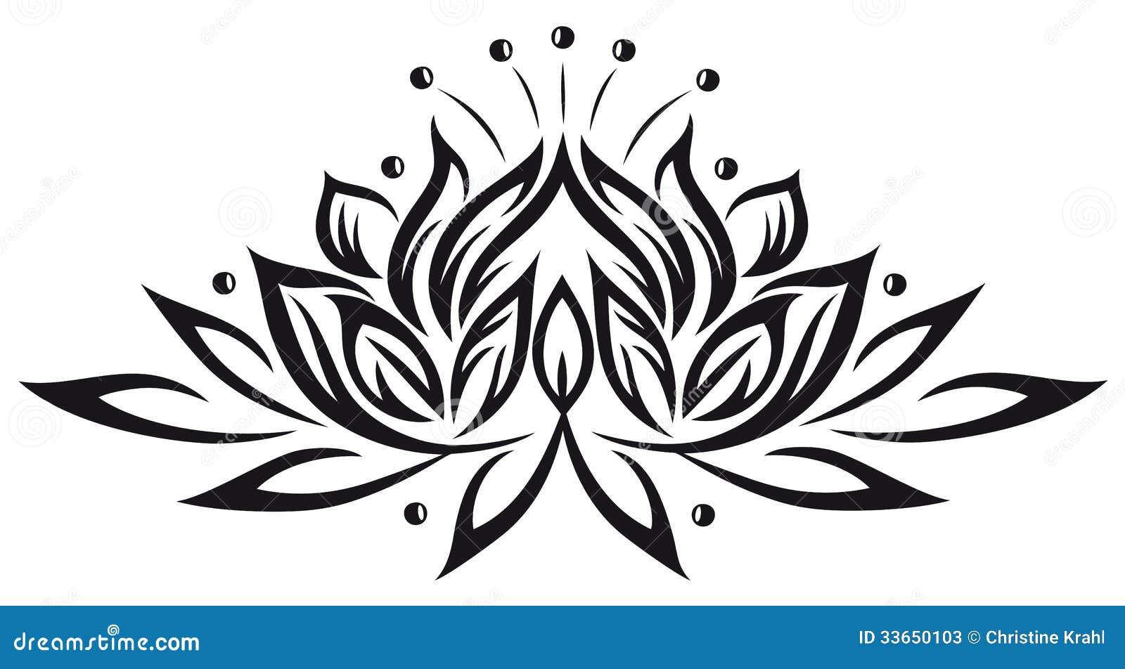 Lotus flowers stock vector illustration of blossoming 33650103 filigree lotus flower black vector mightylinksfo