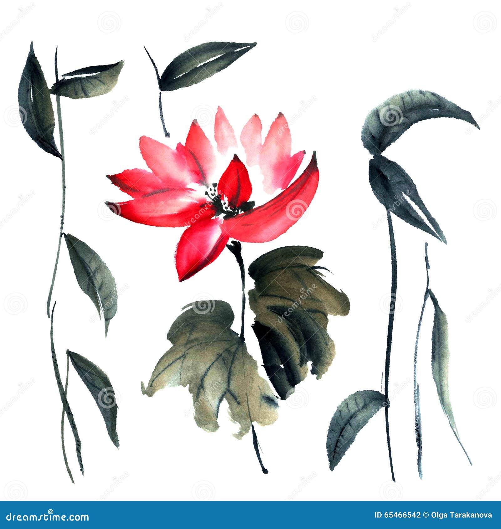 Lotus Flowers Illustration Stock Illustration Illustration Of