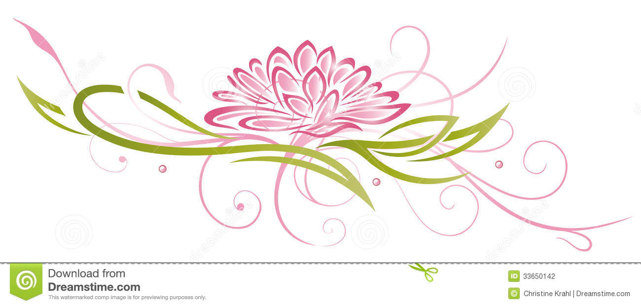 Lotus Flowers Pink Stock Vector Illustration Of Lifestyle 33650142
