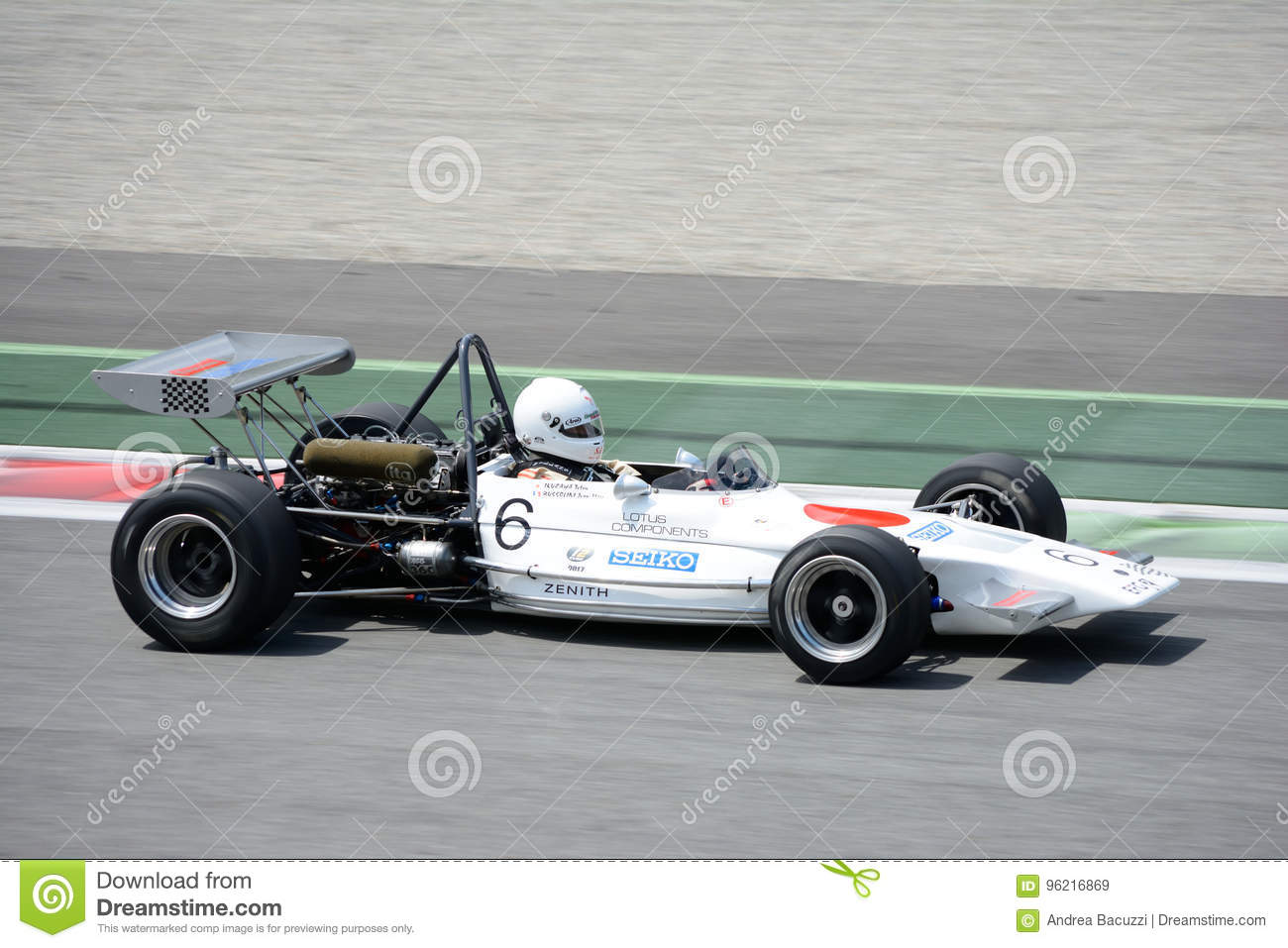 Lotus Formula 2 At The Monza Circuit Editorial Stock Image - Image ...
