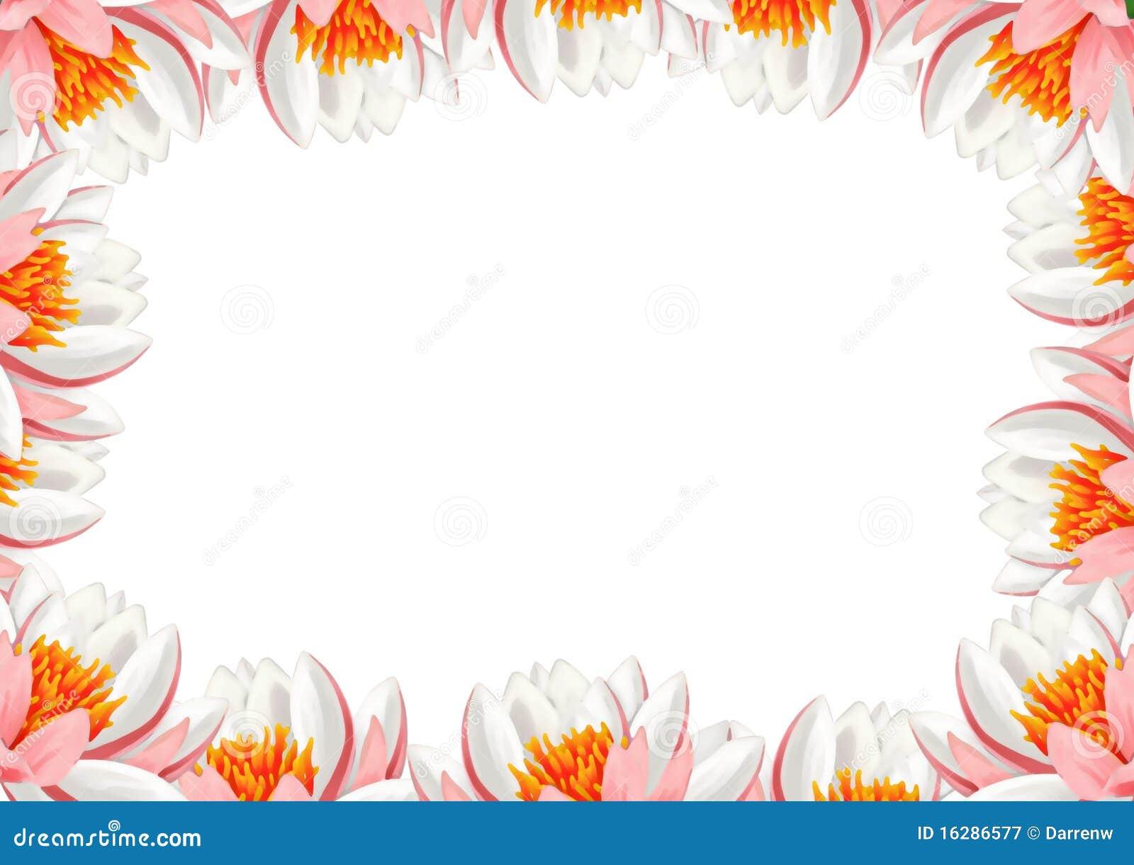Lotus Frame Stock Illustration Illustration Of Framed 16286577