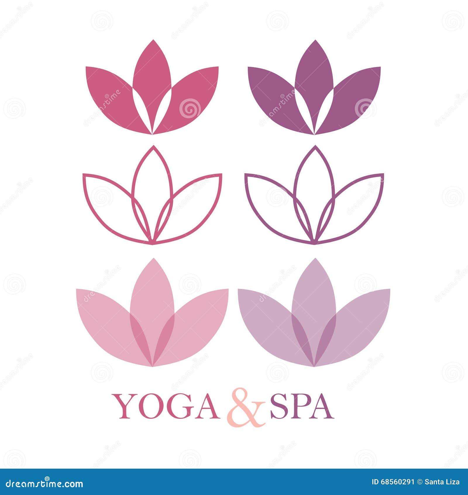 Lotus flower logo vector illustration cartoondealer 54296736 izmirmasajfo